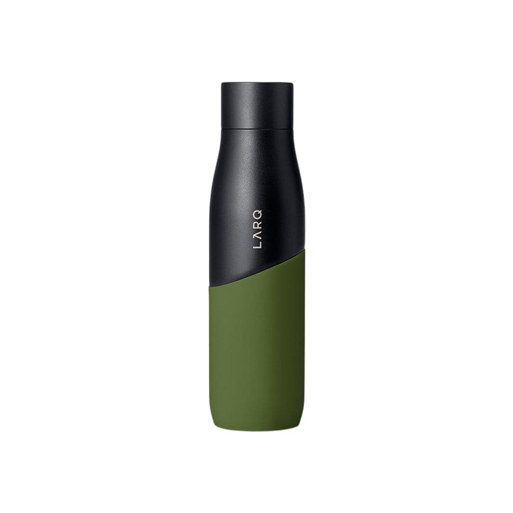 LARQ Water Bottles 24 oz Black + Pine Bottle Movement