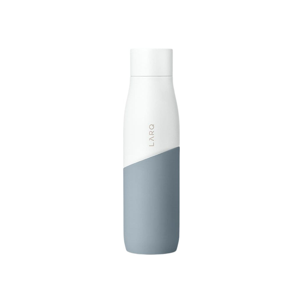 LARQ Water Bottles 24 oz White + Pebble Bottle Movement
