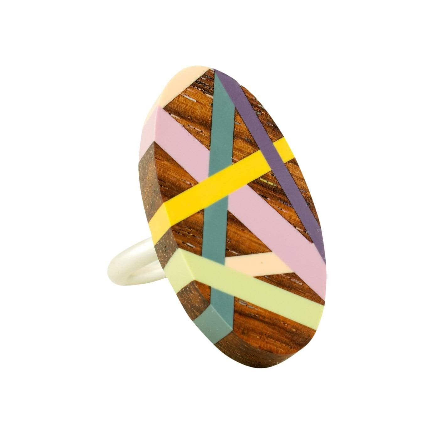 Laura Jaklitsch Jewelry Rings Desert Rose East Indian Rosewood with Inlay Ring