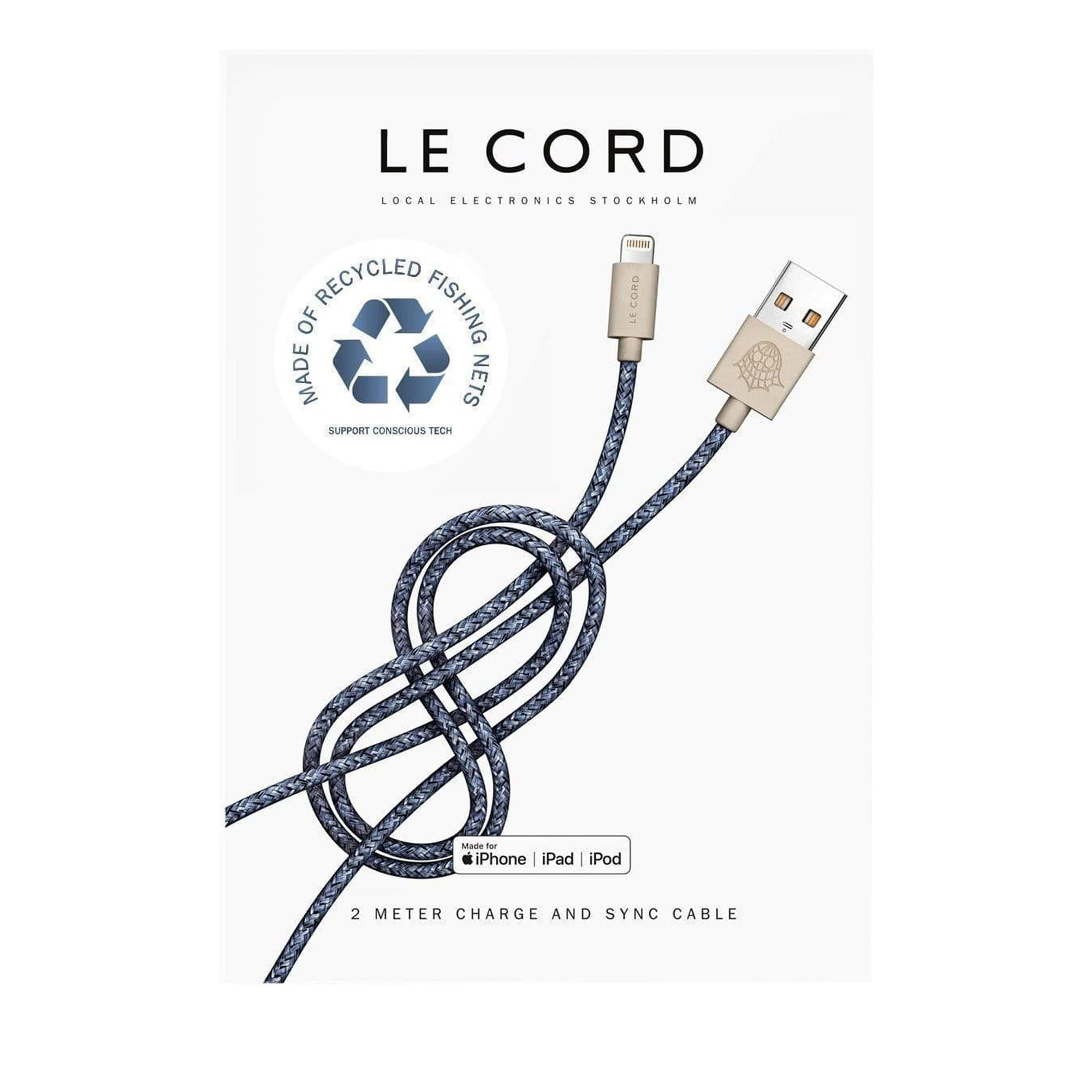 Recycled Blue iPhone Lightning Cable (2 m)