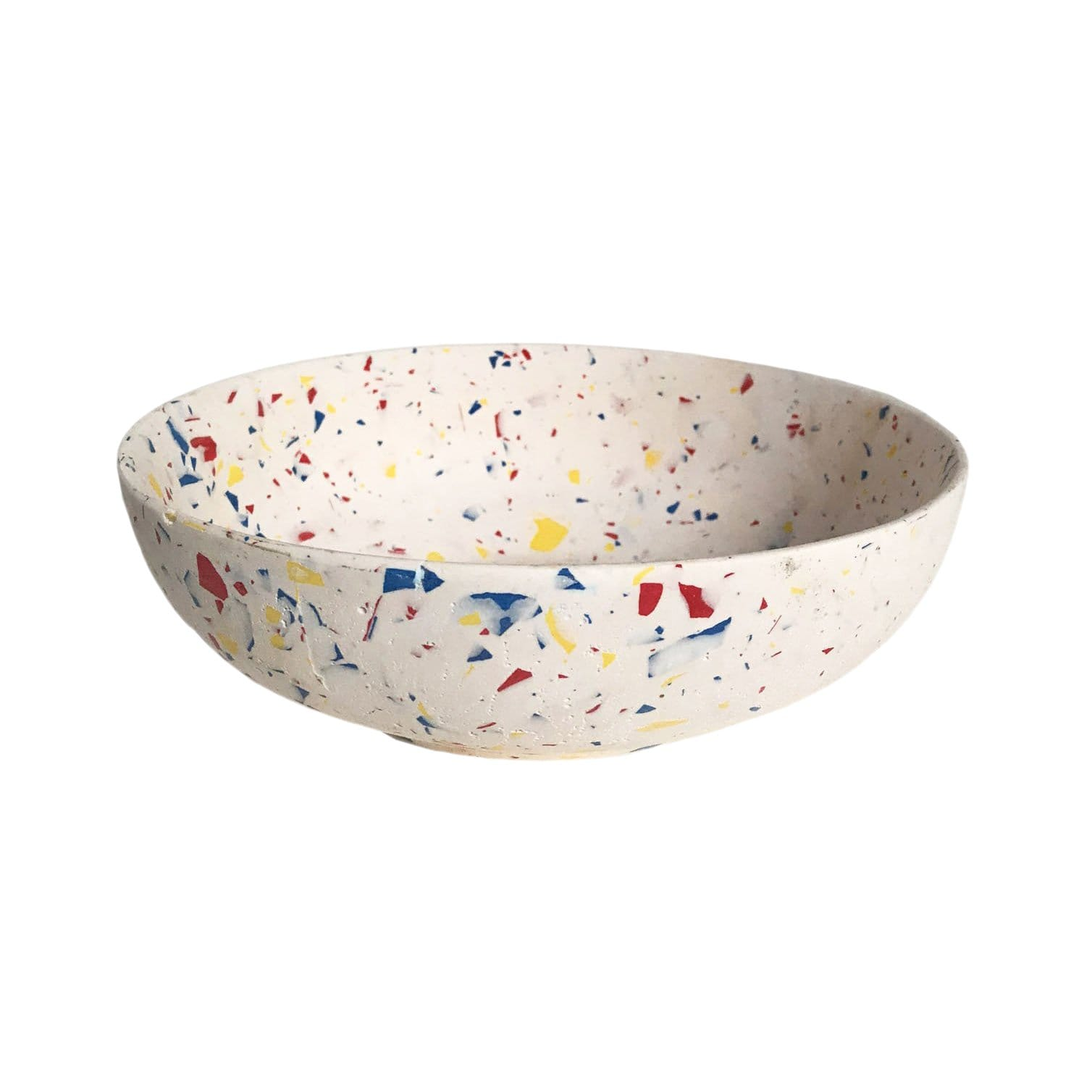 Les Pieds de Biche Kitchen Organization White Terrazzo Concrete Bowl