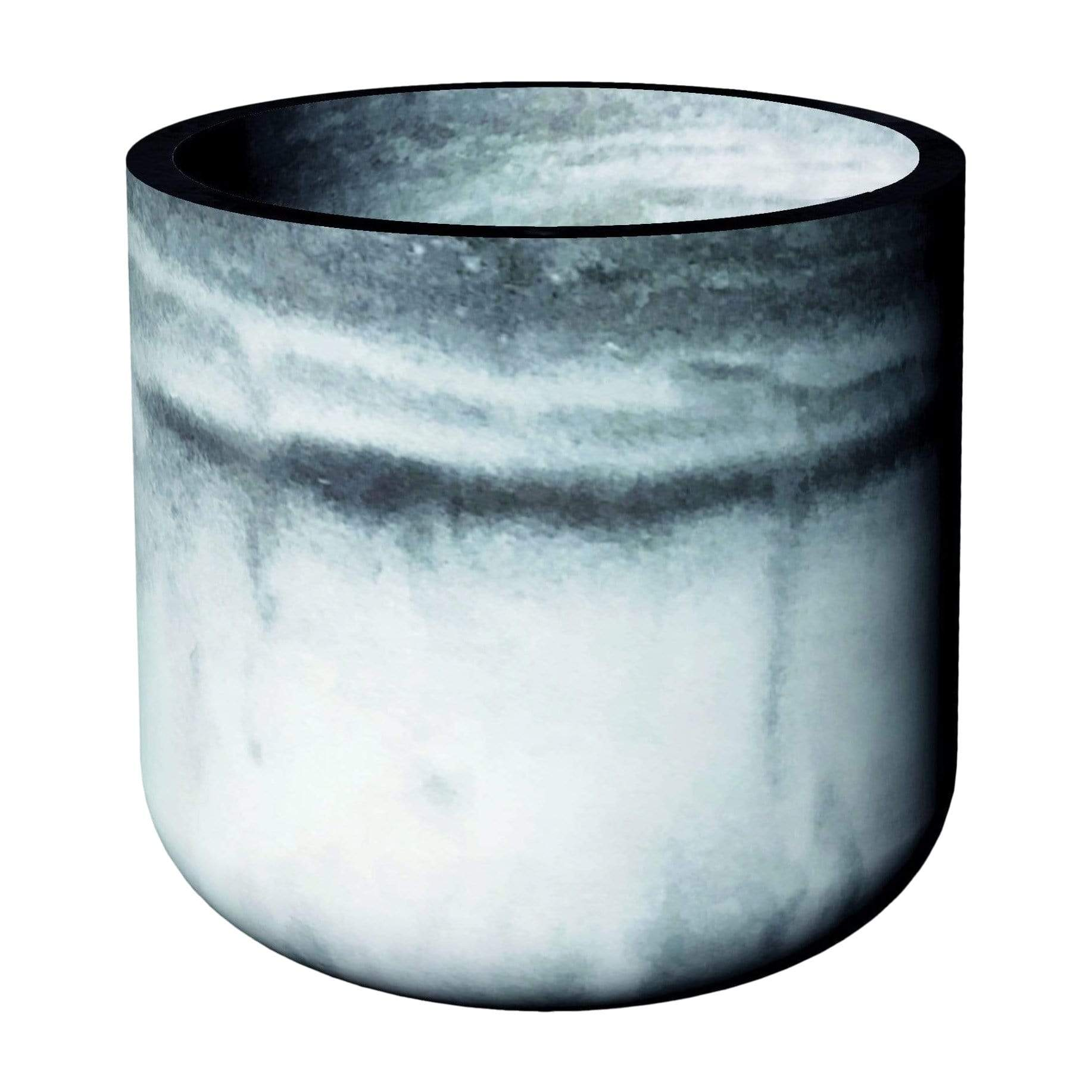 Cylindre Marble Planter