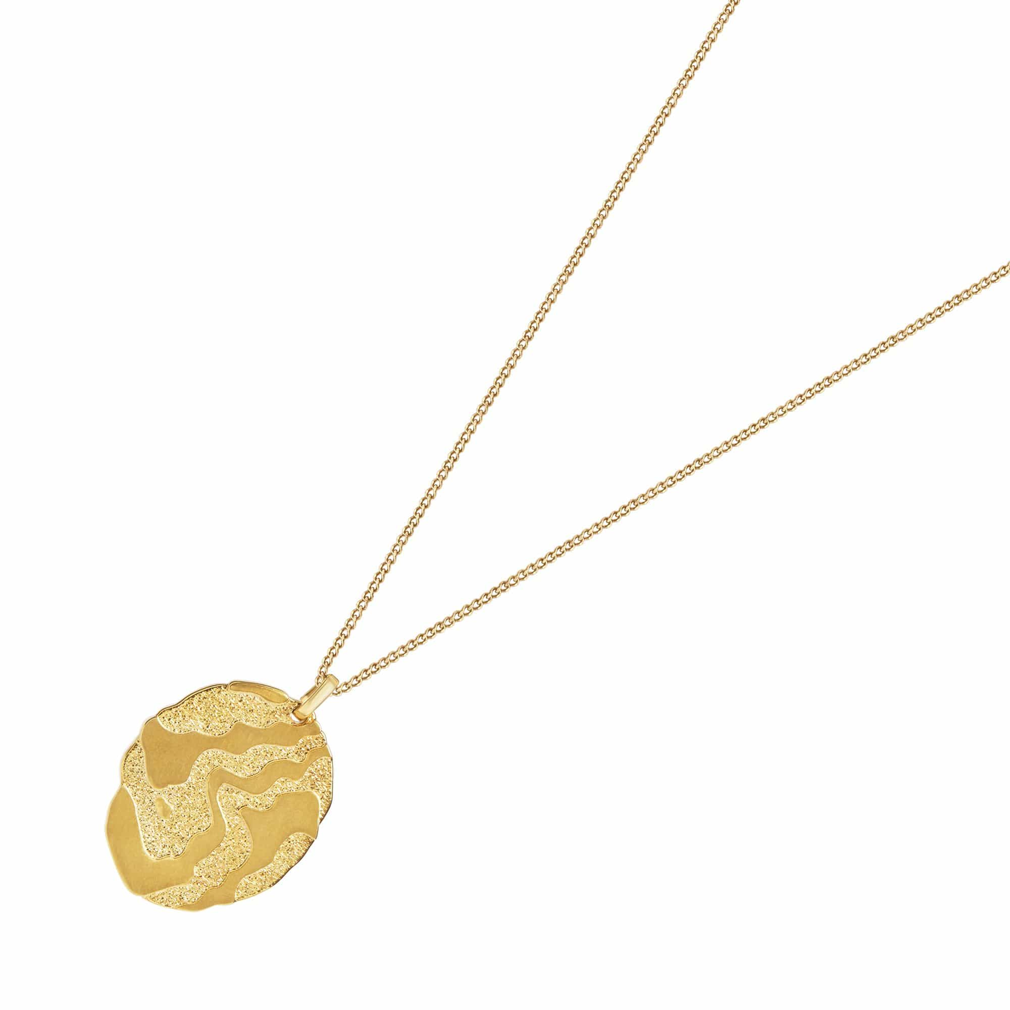 Bosphorus Gold Plated Medallion Necklace