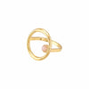 Leta Rings Roma Circular Gold Plated Ring
