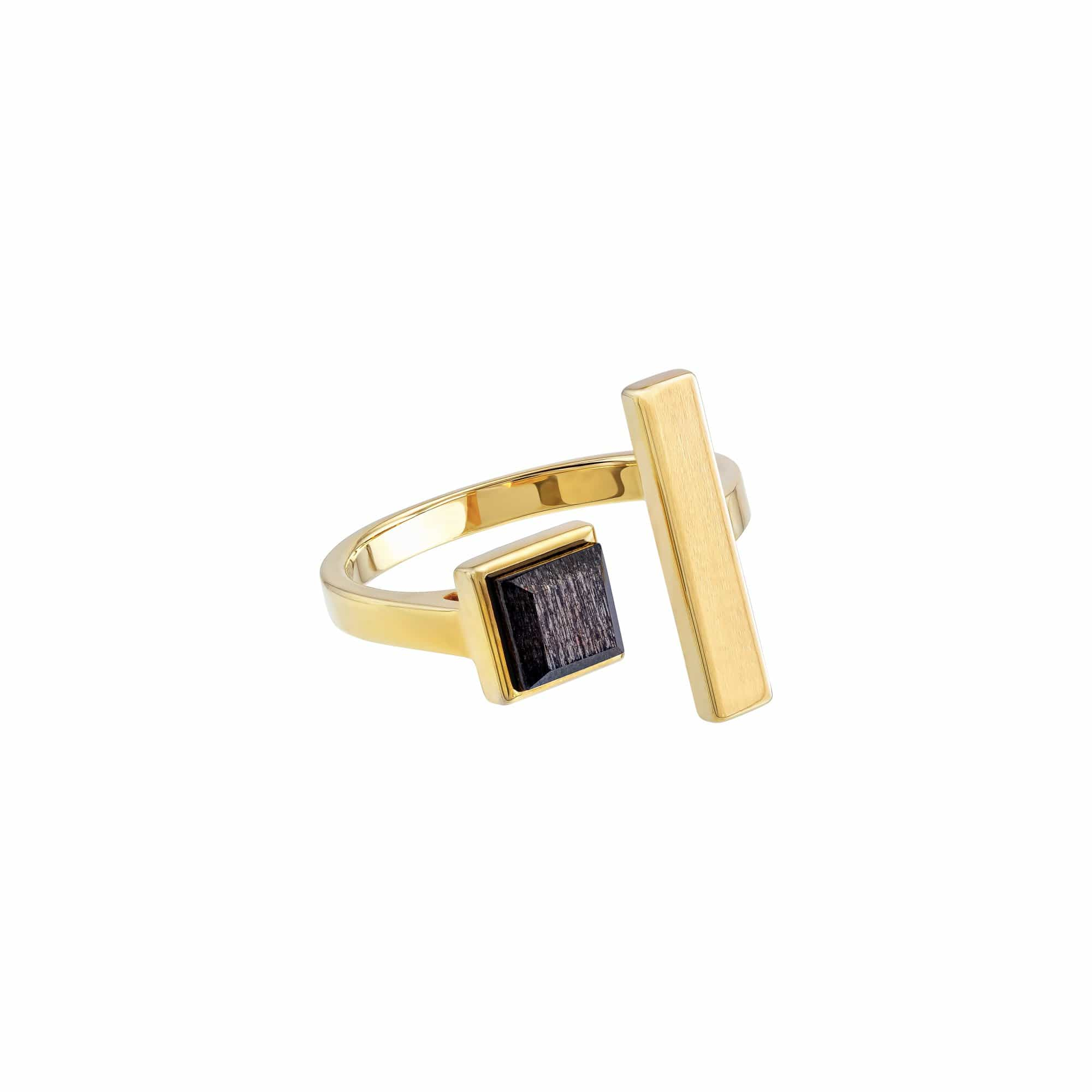Leta Rings Roma Open Gold Plated Ring