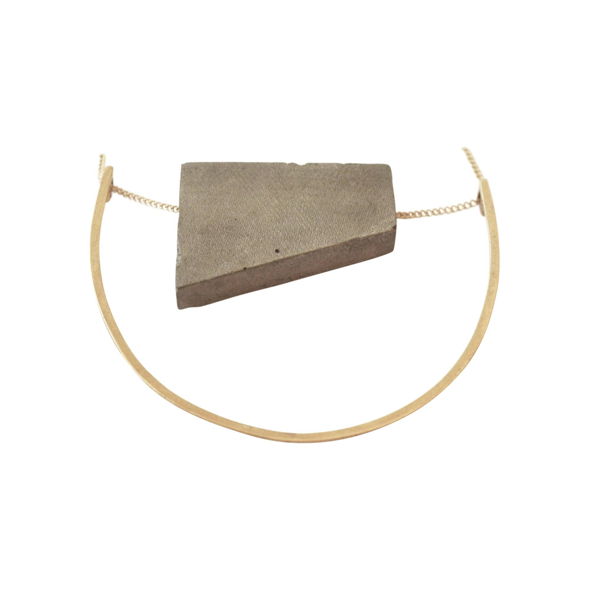 Float U Concrete Necklace