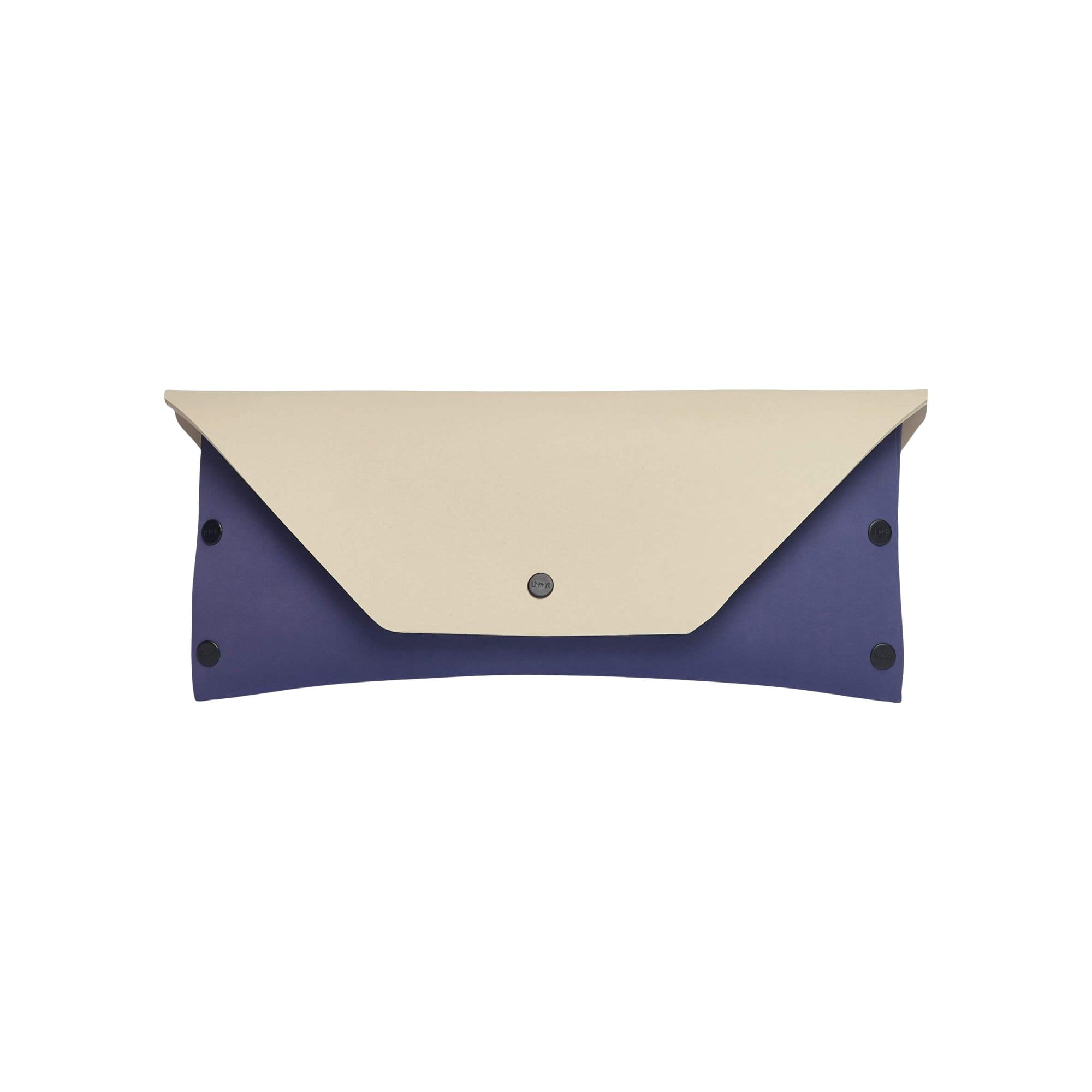 LOMMER Handbags + Clutches Purple / Stone EvaClutch Square