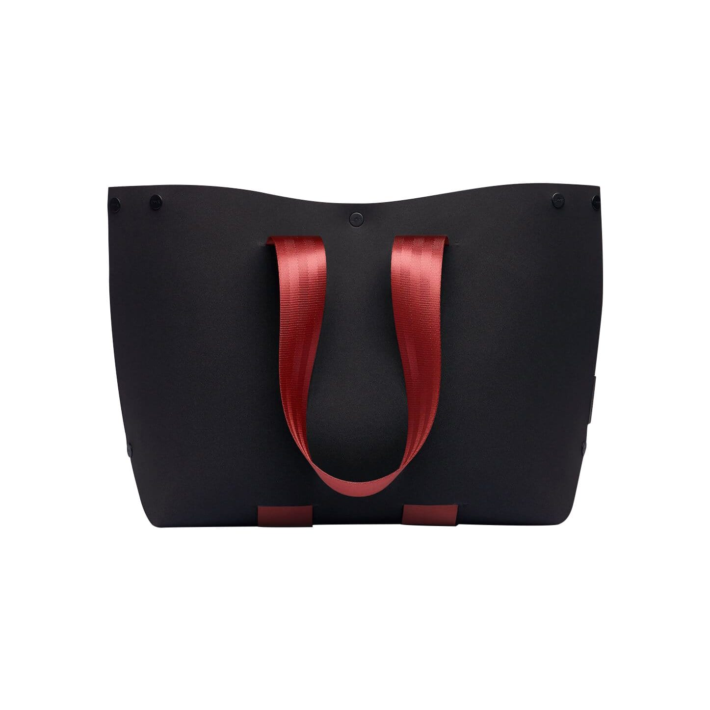 LOMMER Tote Bags Off Black / Bordeaux EvaTwo Tote Bag