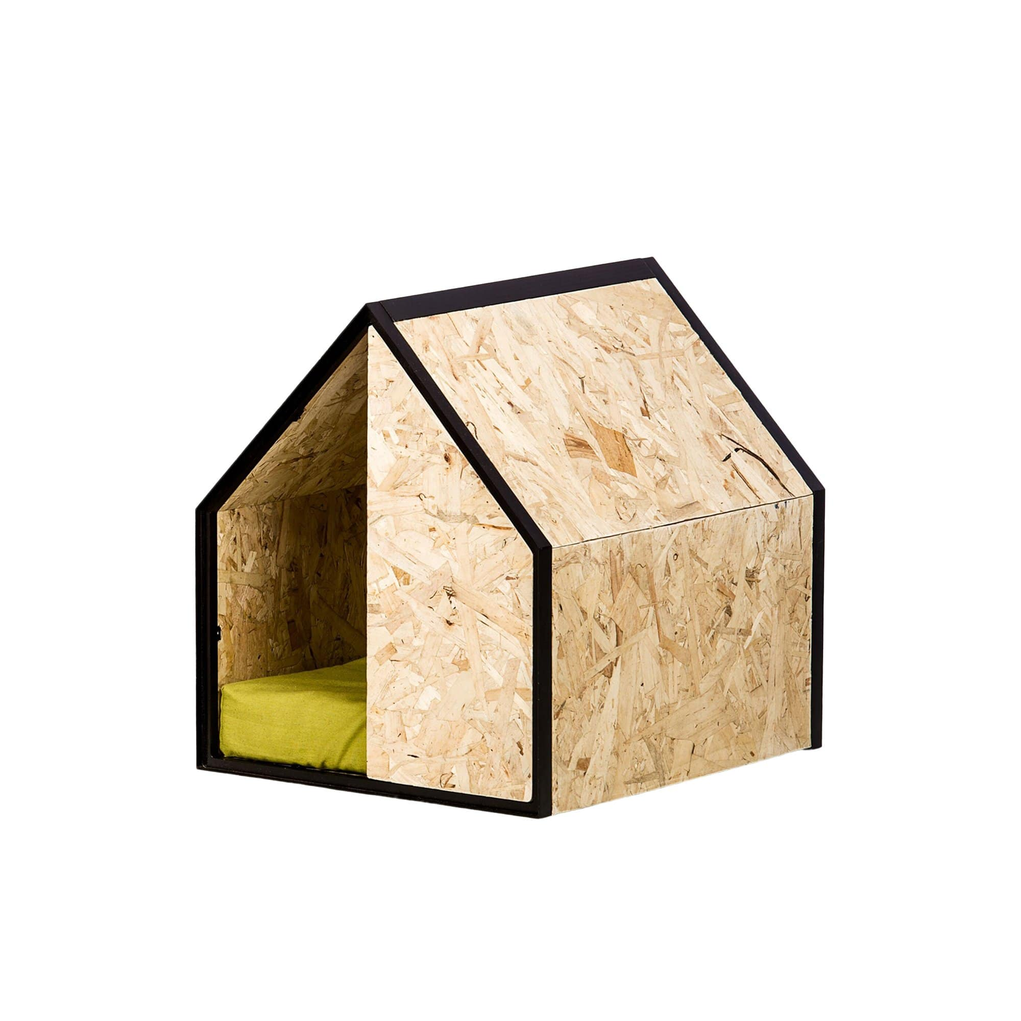 MadebyPen Beds + Mats OSB + Olive Green Dog House