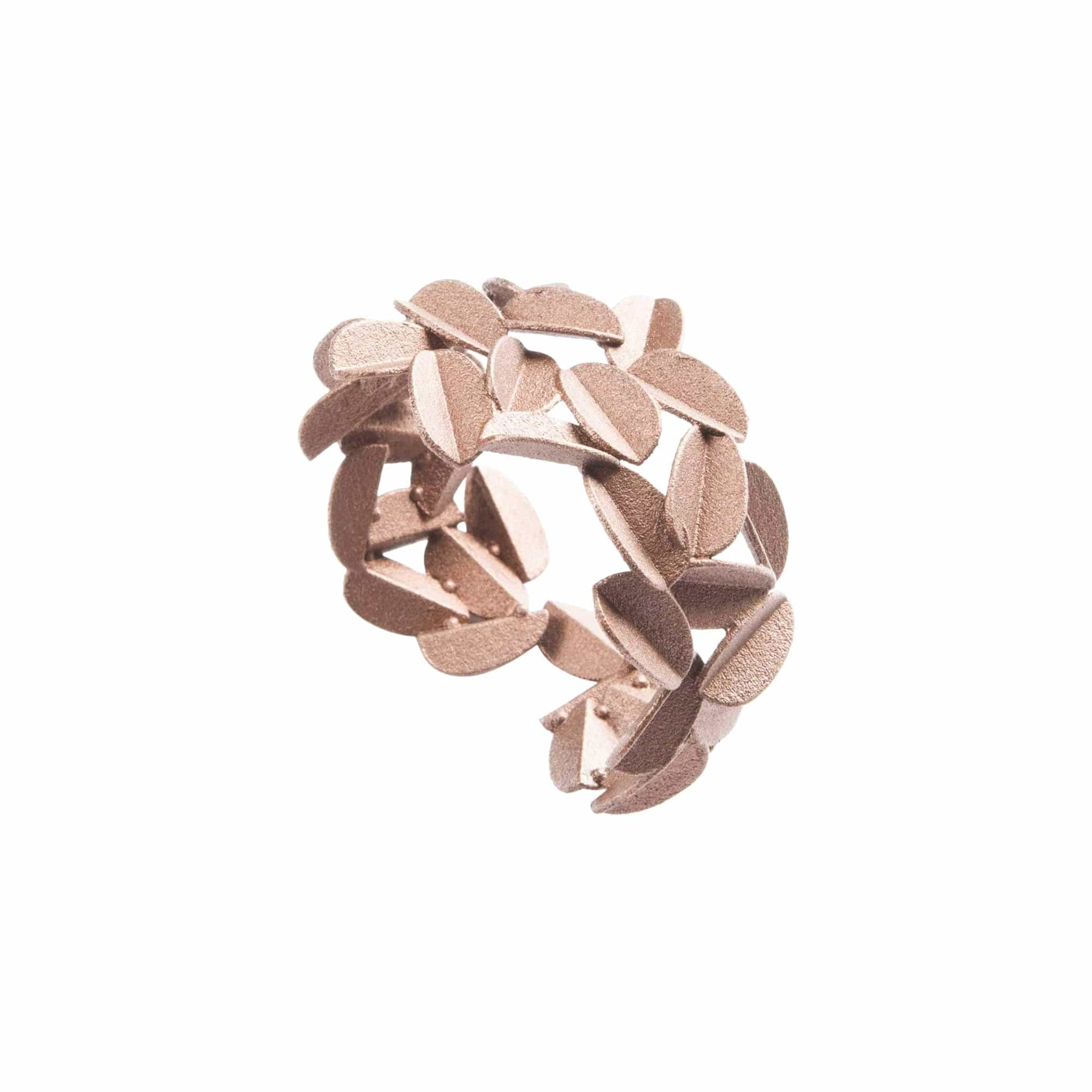 maison 203 Bracelets Rose Gold Metallic Leaves Bracelet