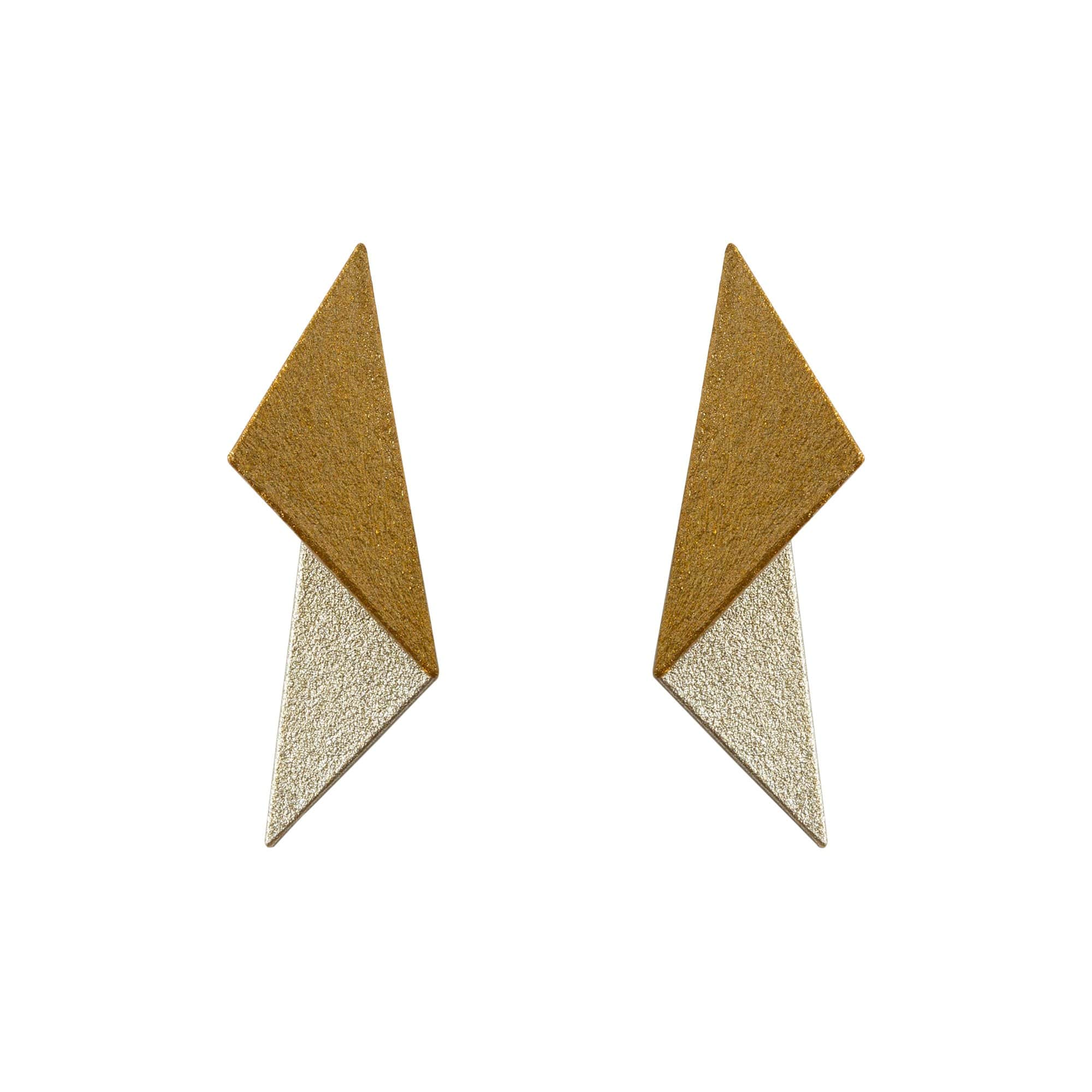 maison 203 Earrings White Gold + Orange Gold Leia Earrings l