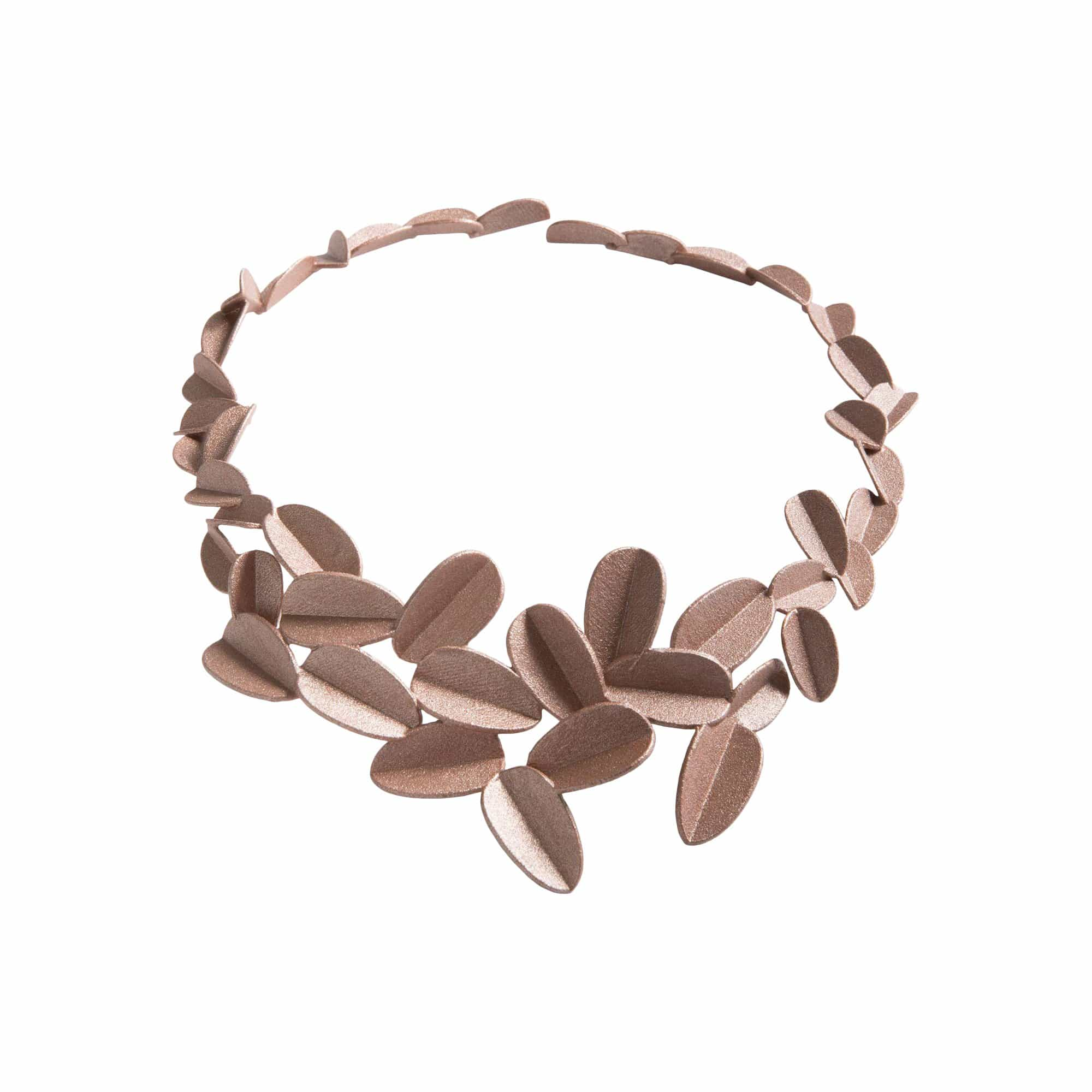 maison 203 Necklaces Rose Gold Metallic Leaves Necklace
