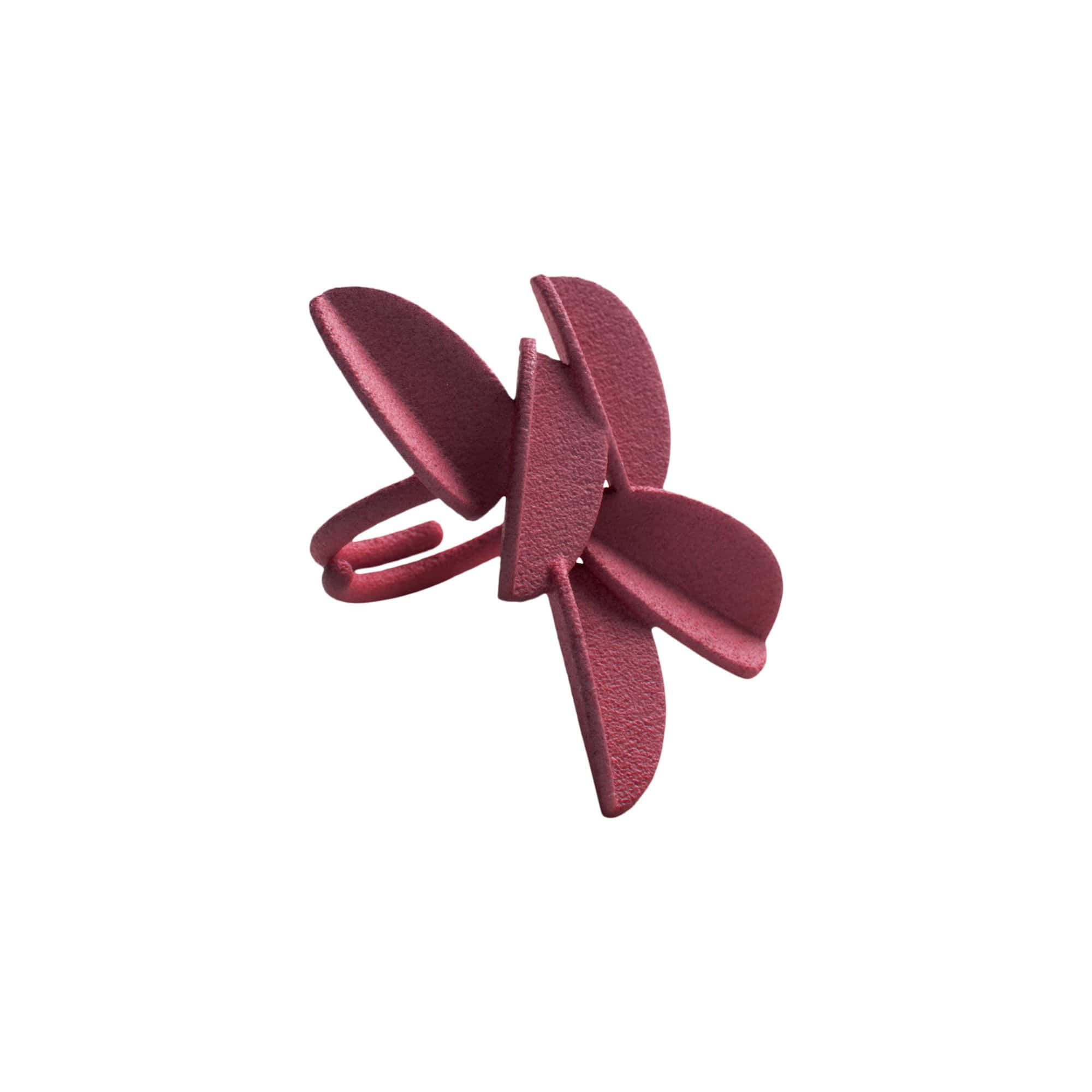 maison 203 Rings Burgundy Leaves Ring