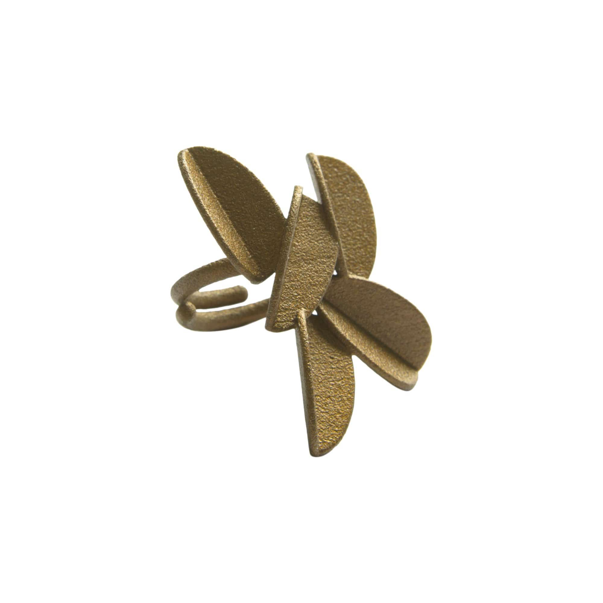 maison 203 Rings Gold Metallic Leaves Ring