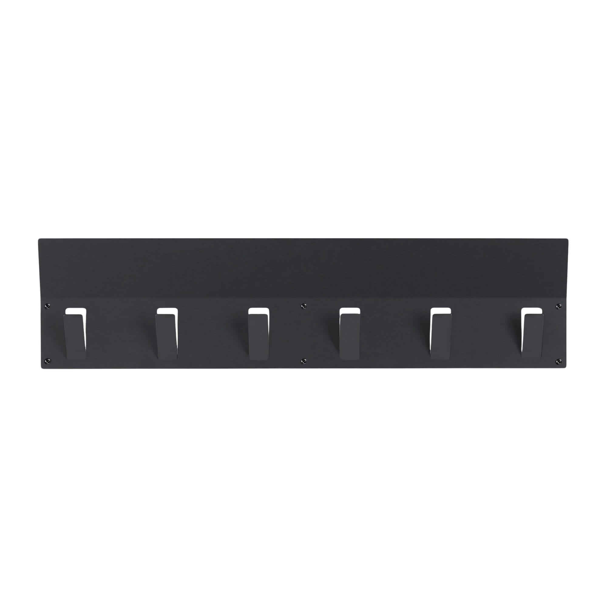 FLEXI 6 Hooks Shelf - Black