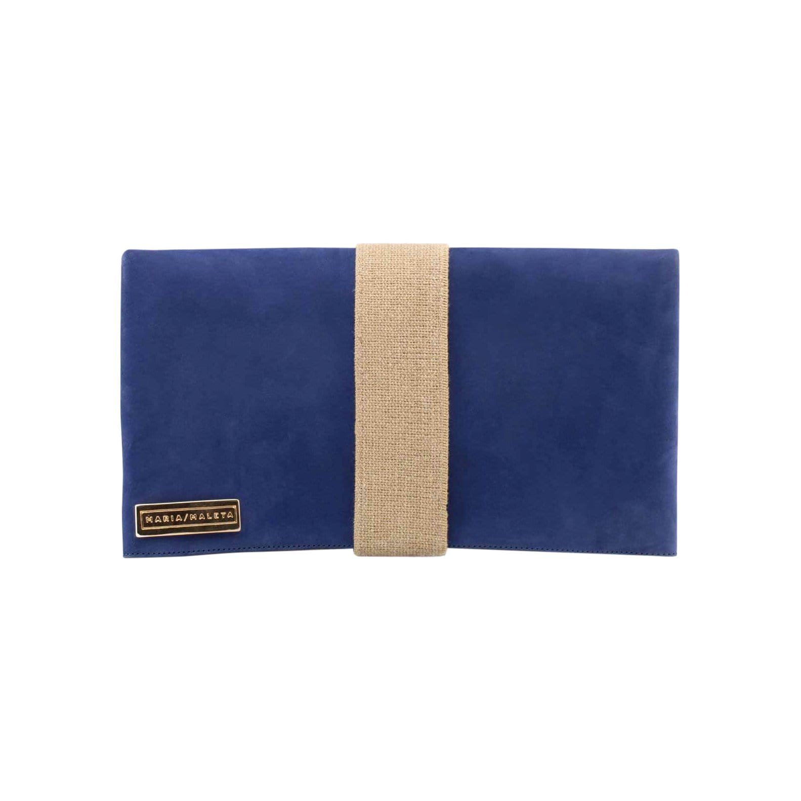 mariamaleta Handbags + Clutches A&O Navy Blue Clutch Bag