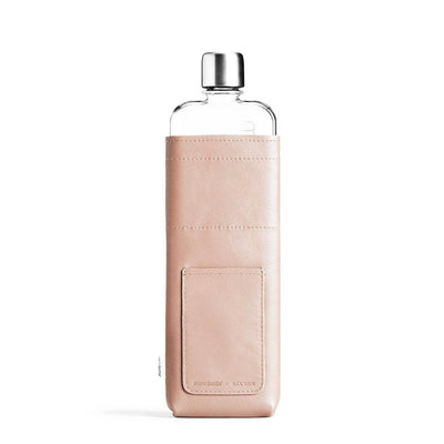 Memobottle Water Bottles Default Slim Memobottle Nude Leather Sleeve