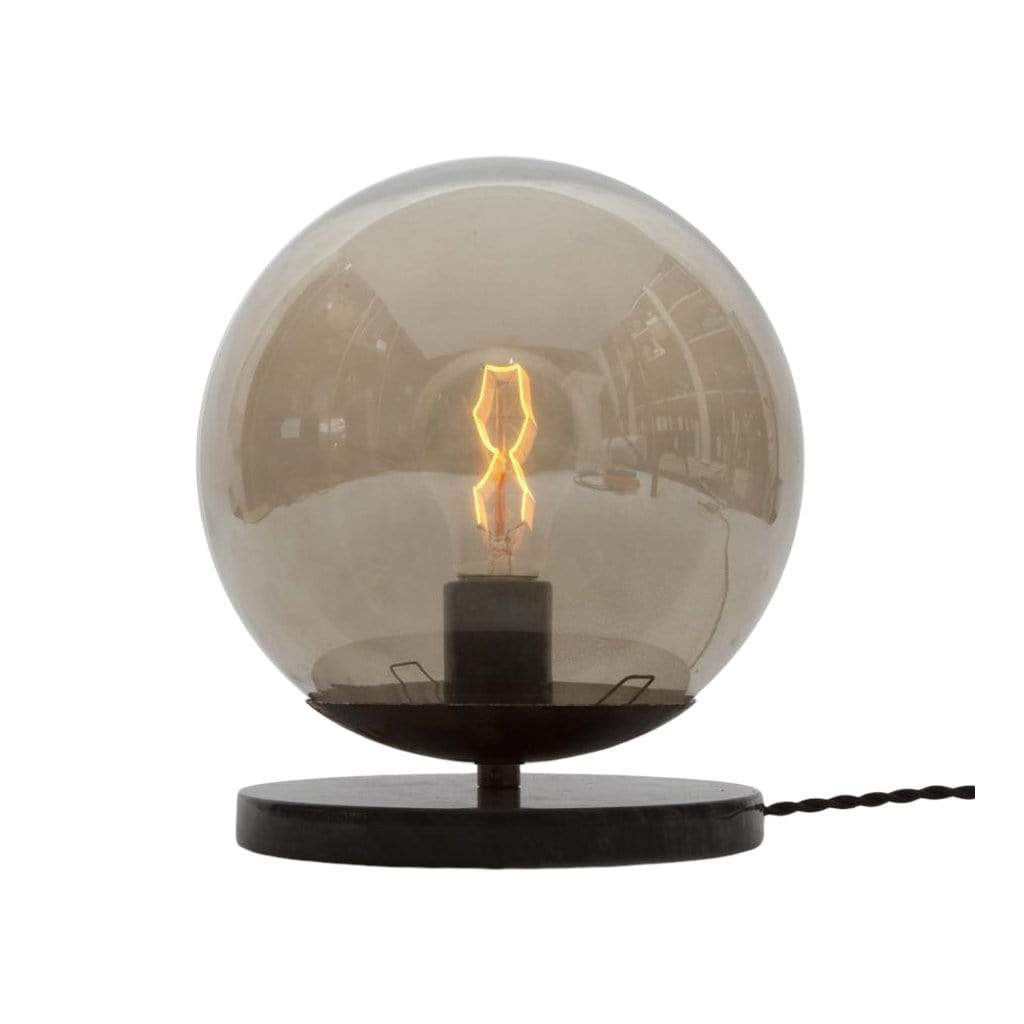 Michele Varian Table Black Marble + Glass Globe Small Table Light