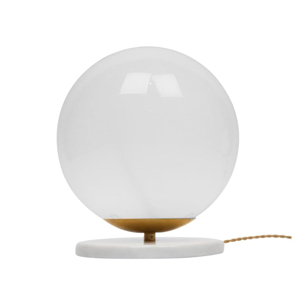 Marble + Glass Globe Large Table Light