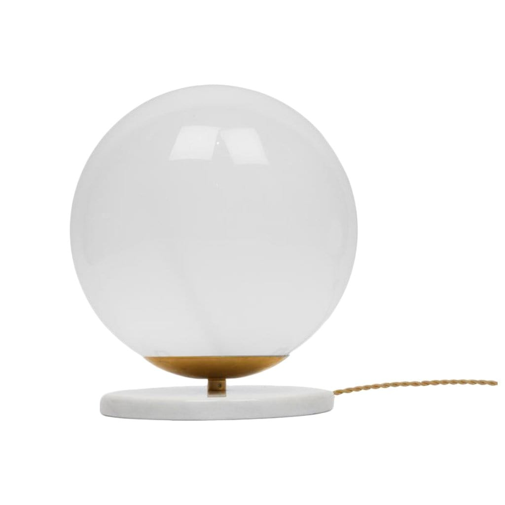 Michele Varian Table Marble + Glass Globe Small Table Light