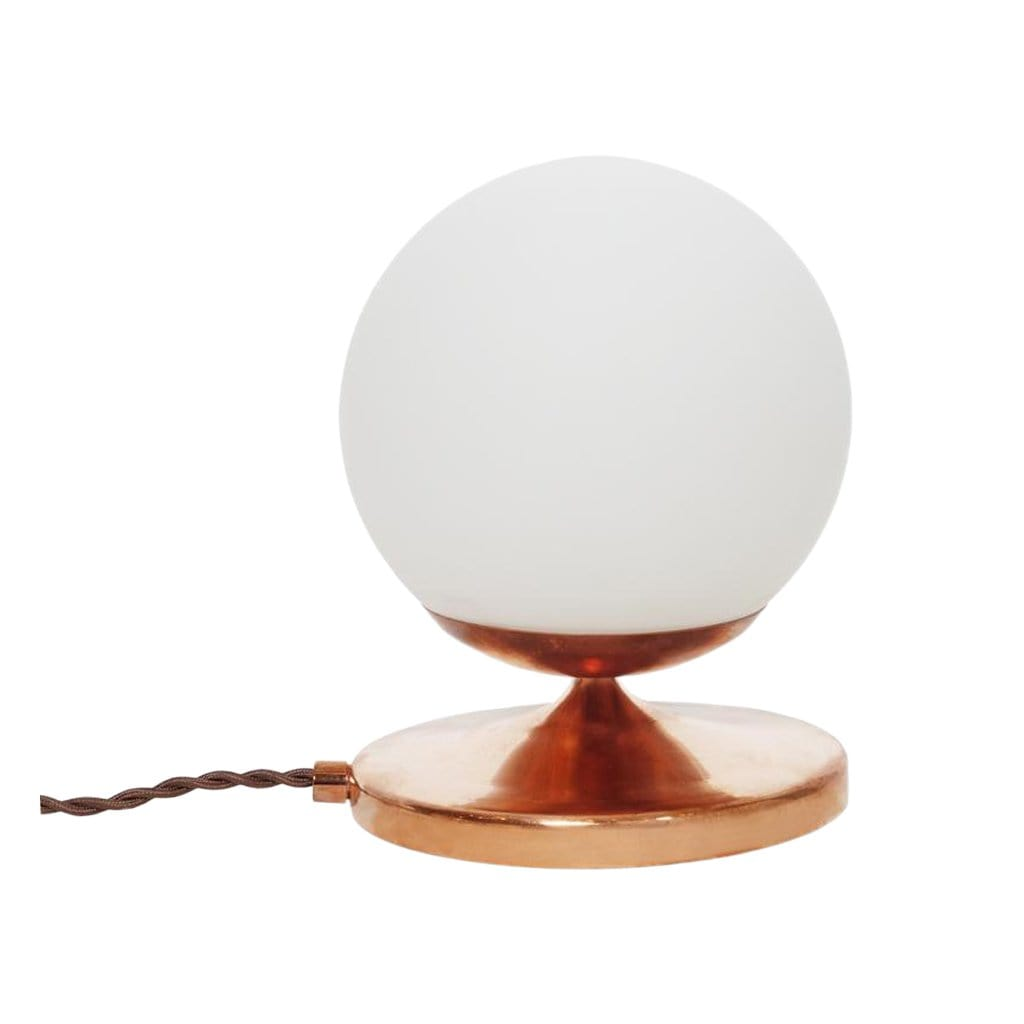 Michele Varian Table Shorty Copper Globe Lamp