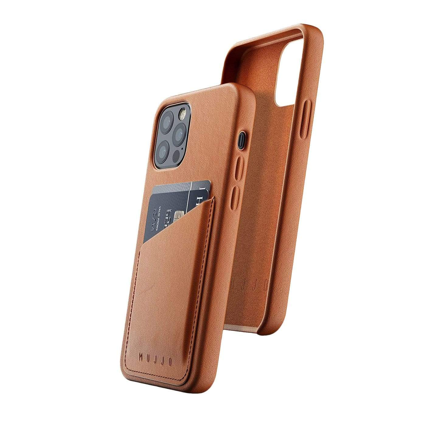 Full Leather Wallet Case for iPhone 12 & 12 Pro - Tan