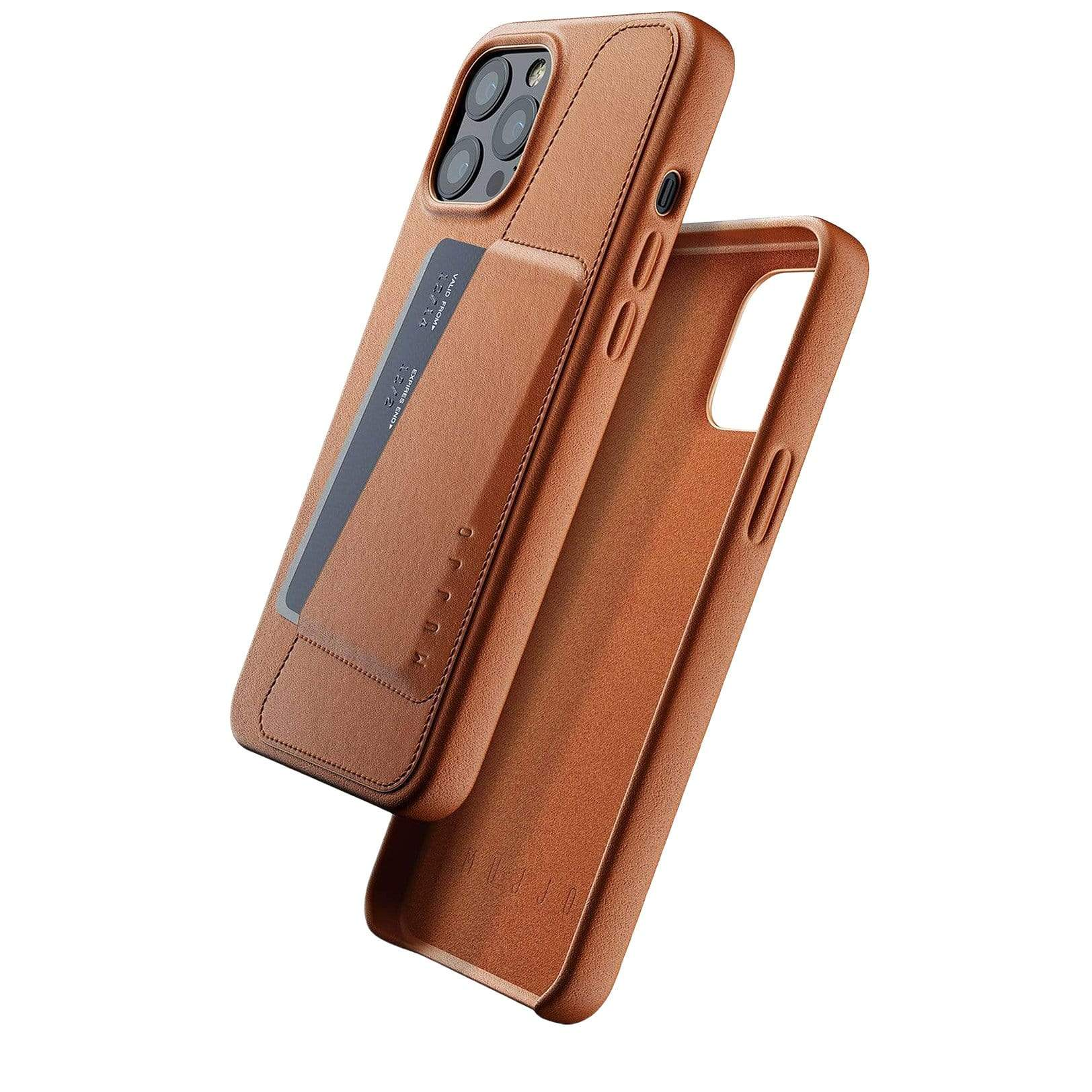 Full Leather Wallet Case for iPhone 12 Pro Max - Tan