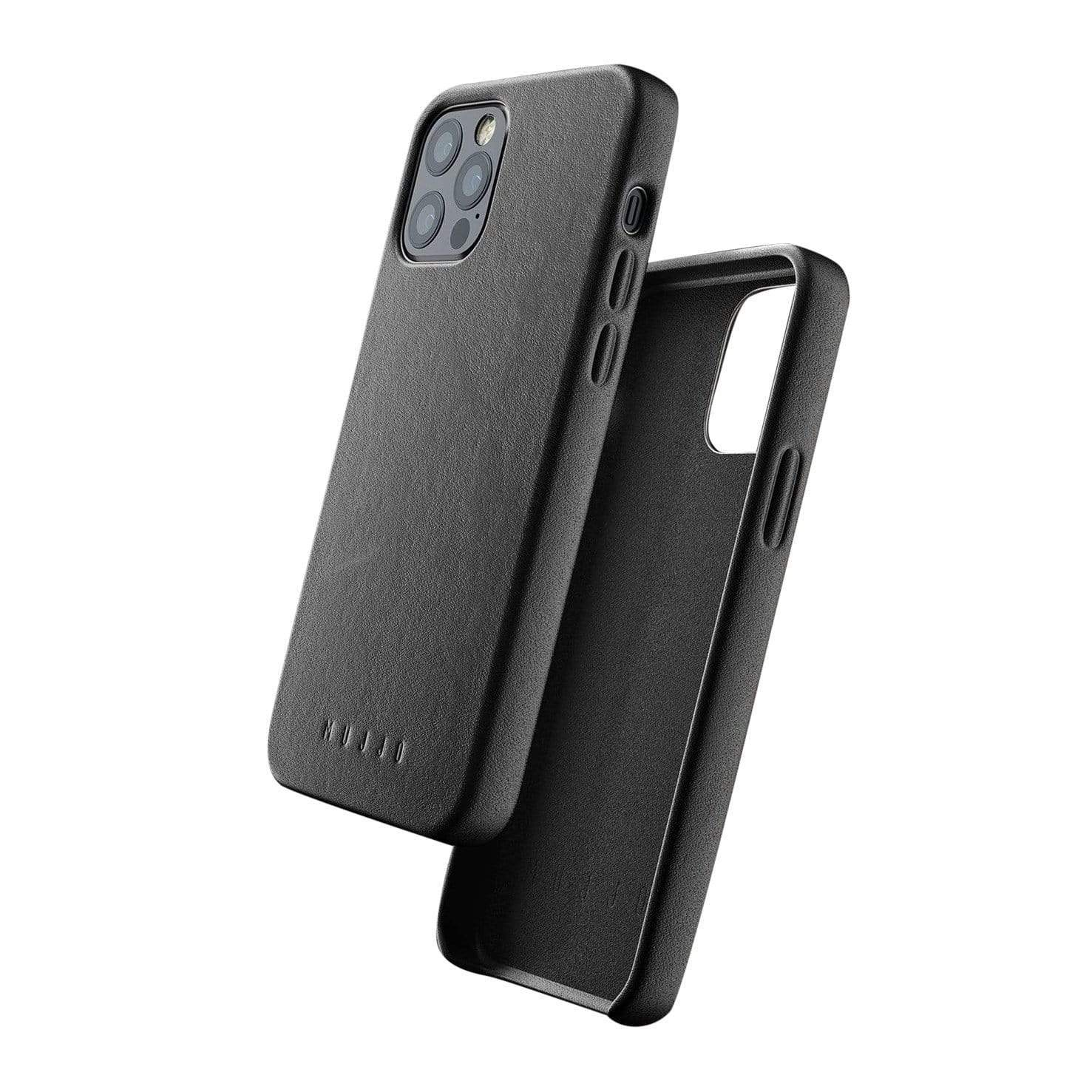 Full Leather Case for iPhone 12 / 12 Pro - Black