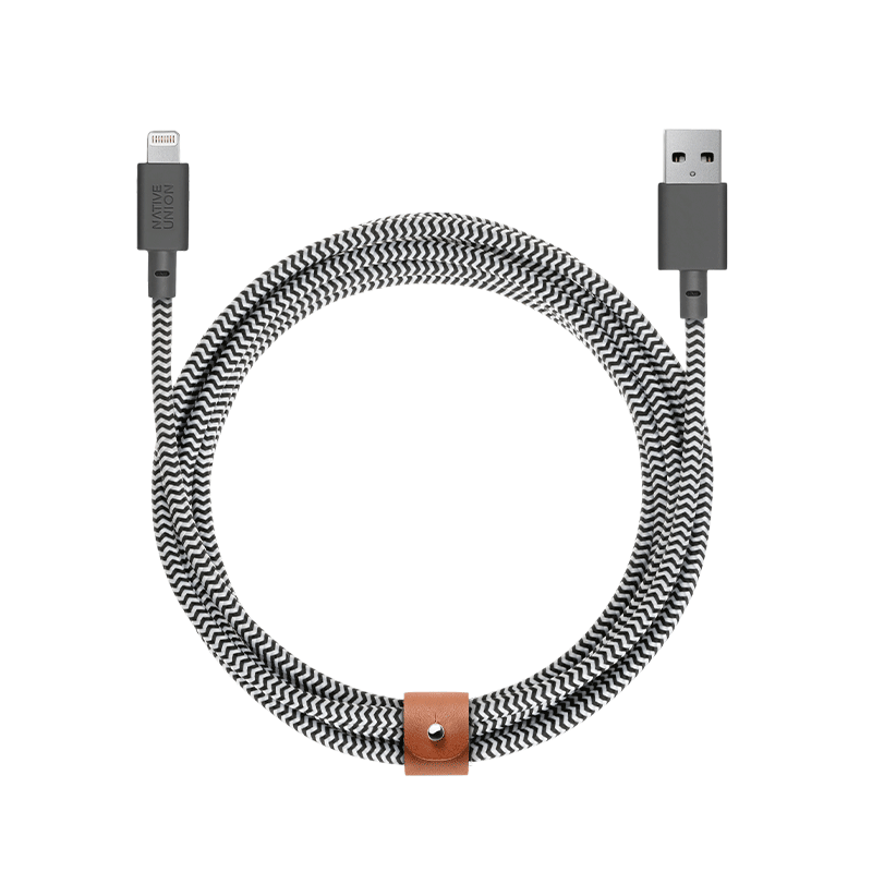 Native Union Apple Essentials Zebra / USB-A to Lightning Native Union Belt Cable XL