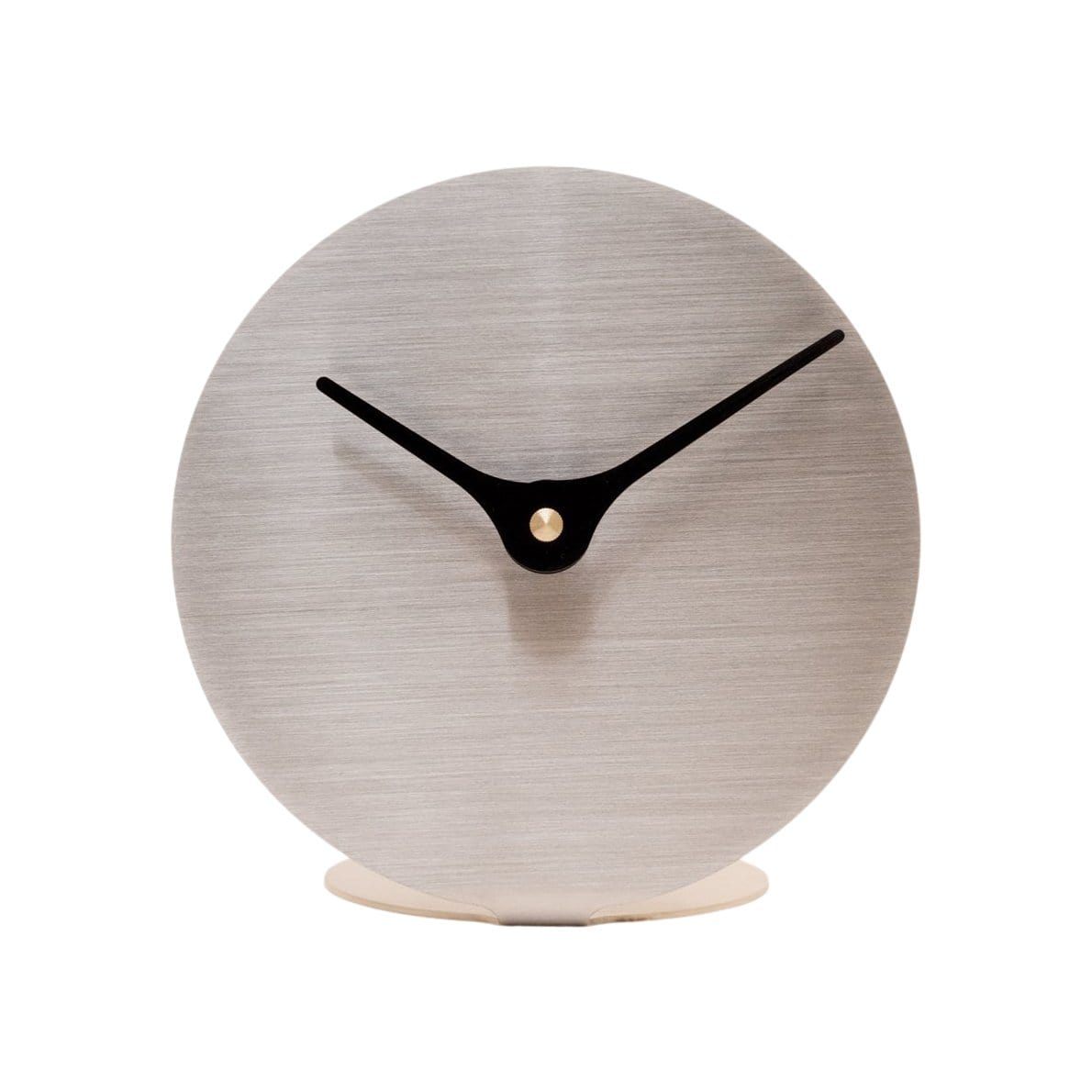 Nordahl Konings Clocks Lilje Stainless Steel Table Clock