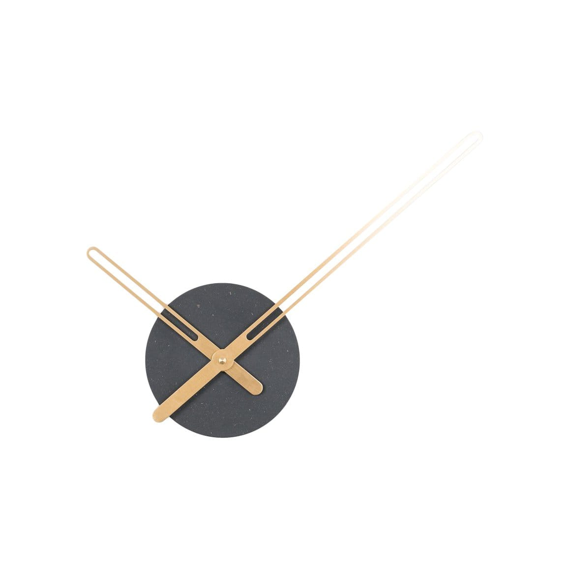 Nordahl Konings Clocks Sweep Black & Brass Wall Clock