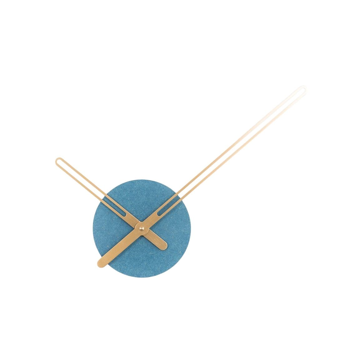 Nordahl Konings Clocks Sweep Blue & Brass Wall Clock
