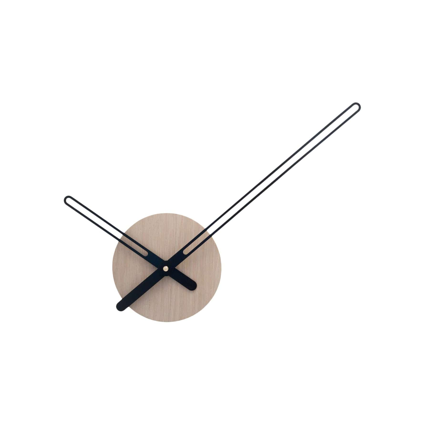 Nordahl Konings Clocks Sweep Oak Wood & Black Wall Clock