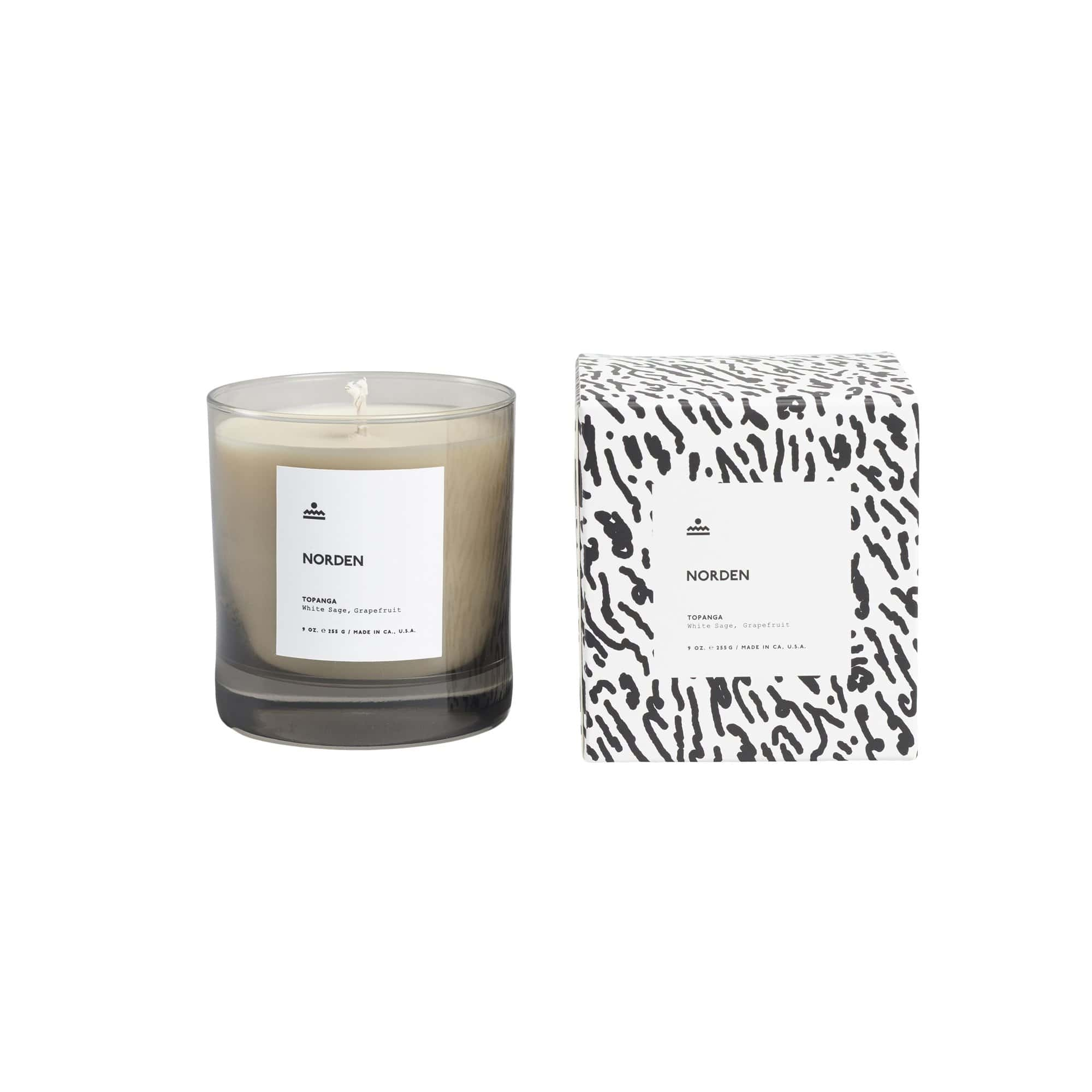 Norden Goods Candles, Diffusers + Incense Topanga 9 oz. Glass Candle