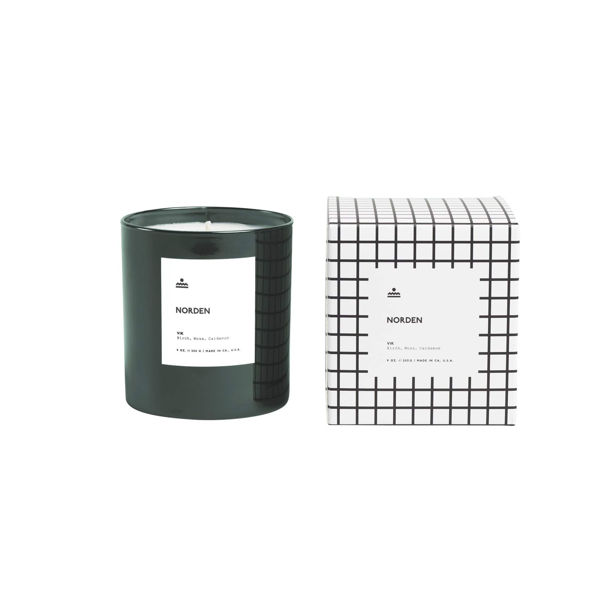 Norden Goods Candles, Diffusers + Incense Vik 9 oz. Glass Candle