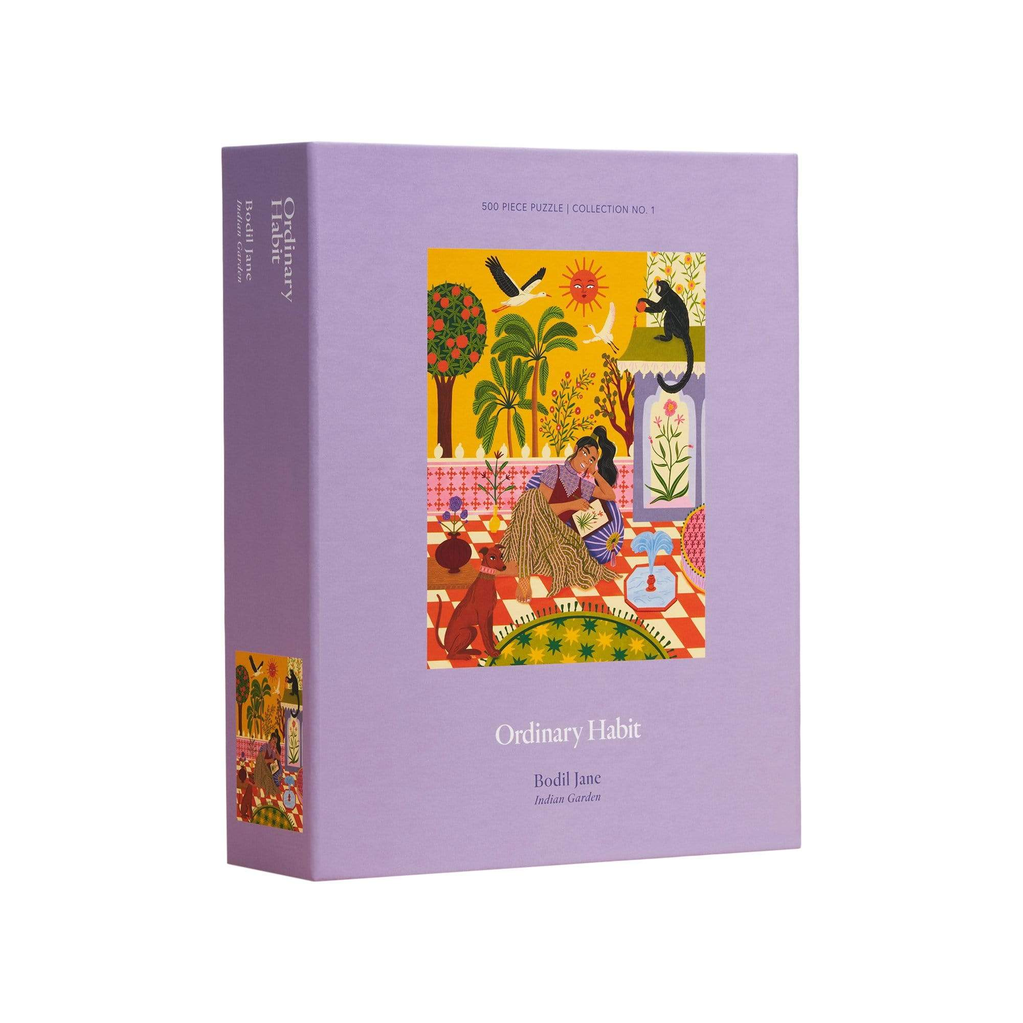 Ordinary Habit 500 Piece Puzzle Indian Garden by Bodil Jane