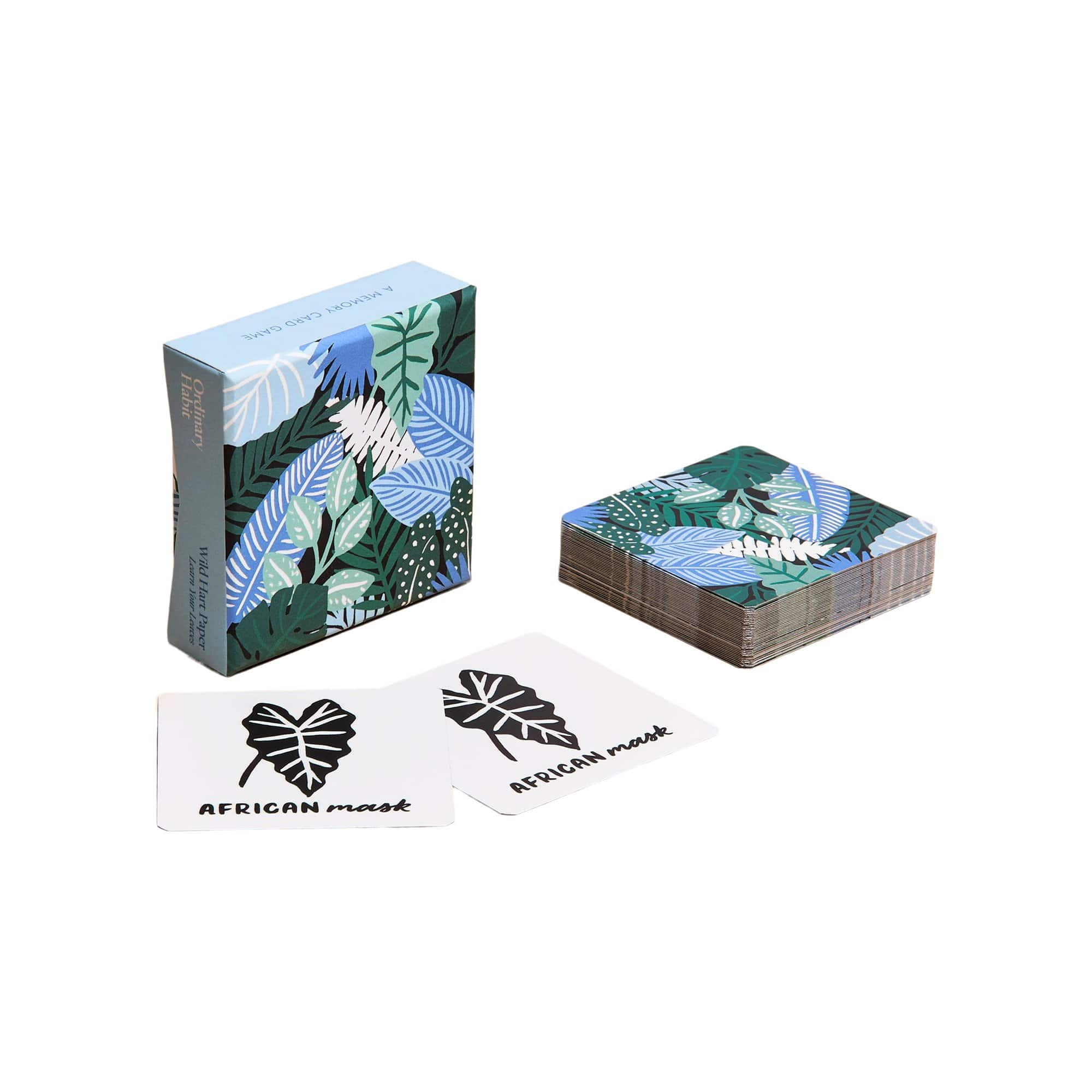 Ordinary Habit Puzzles Learn Your Leaves Matching Cards by Wild Hart Paper
