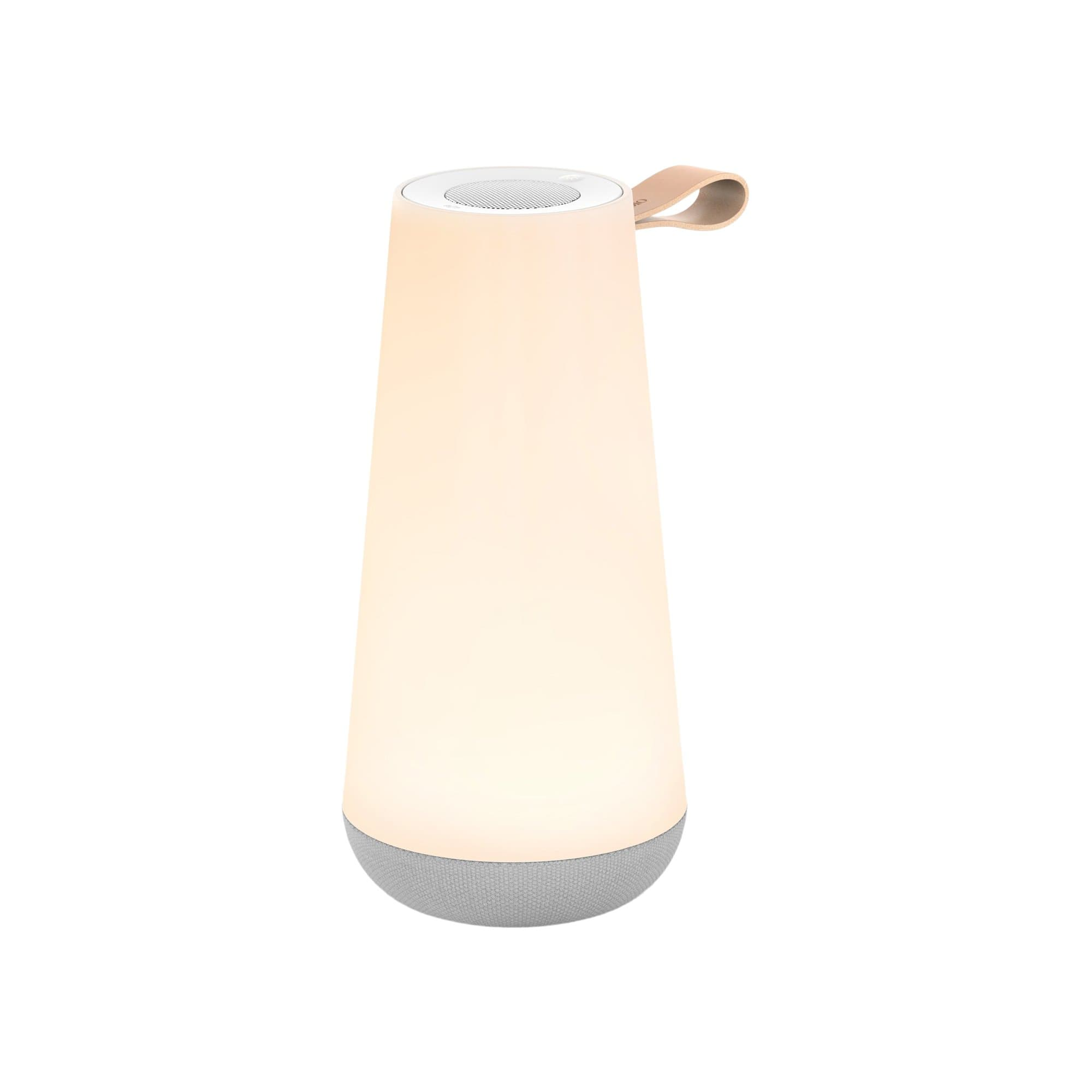 Pablo Designs Table Matte White Uma Mini Light and Speaker
