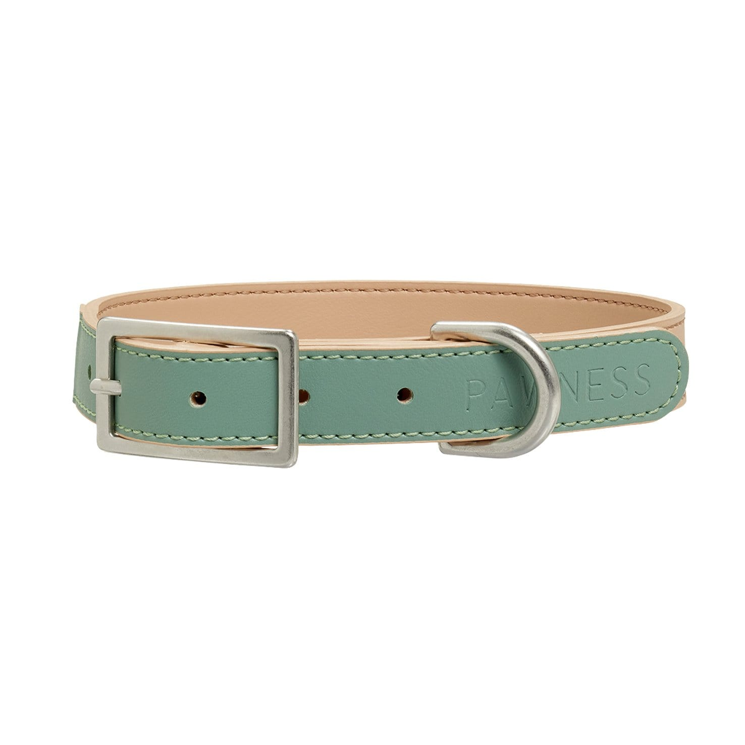 Pawness Collars + Harnesses Vegan Leather Collar Bo - Emerald