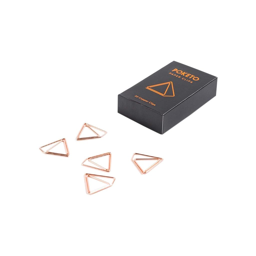 Poketo Desk Accessories Shape Paper Clips in Copper Pyramid