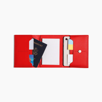 Poketo Document Cases + Folios V2 Minimalist Red Folio