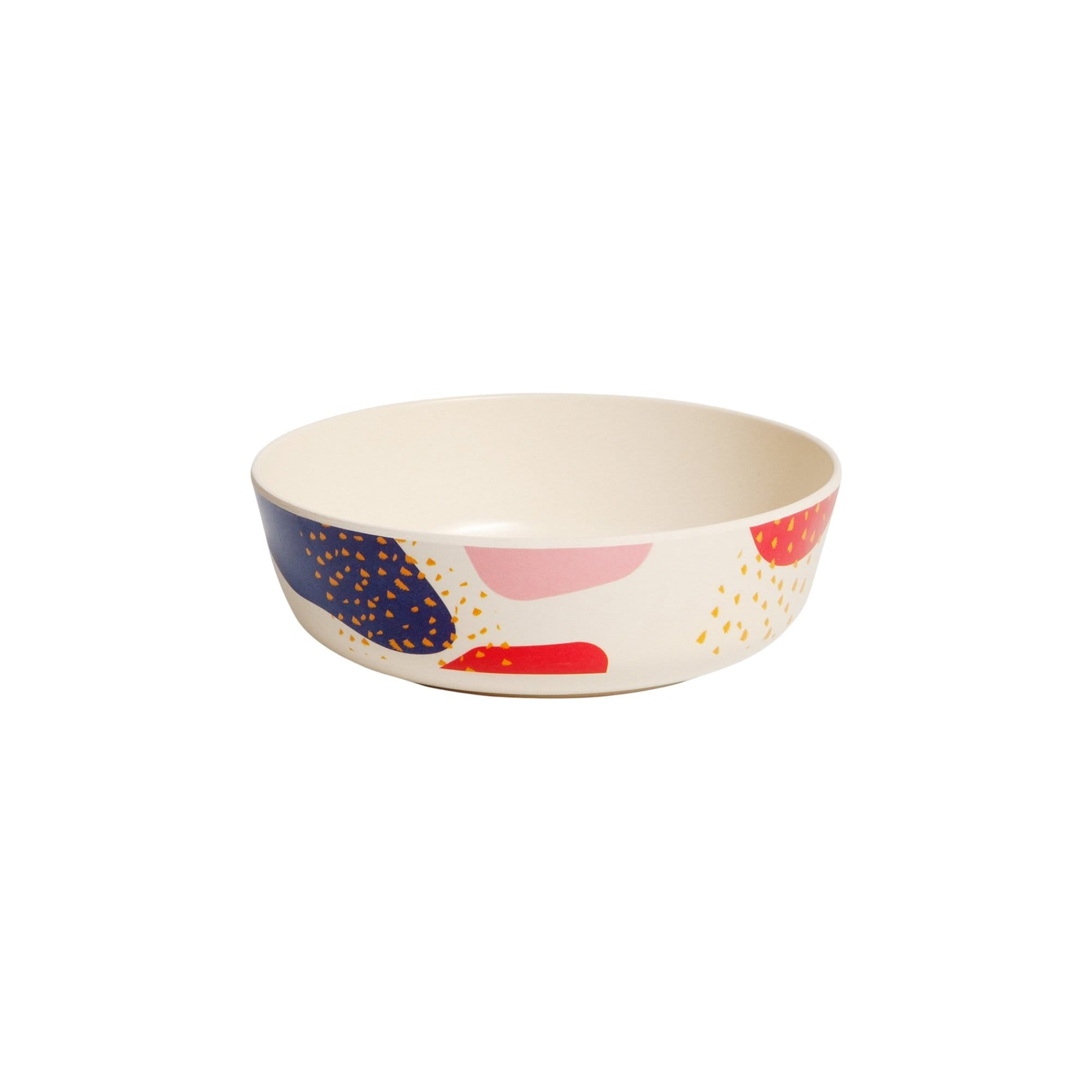 Bamboo Bowl Set in Dots and Marks