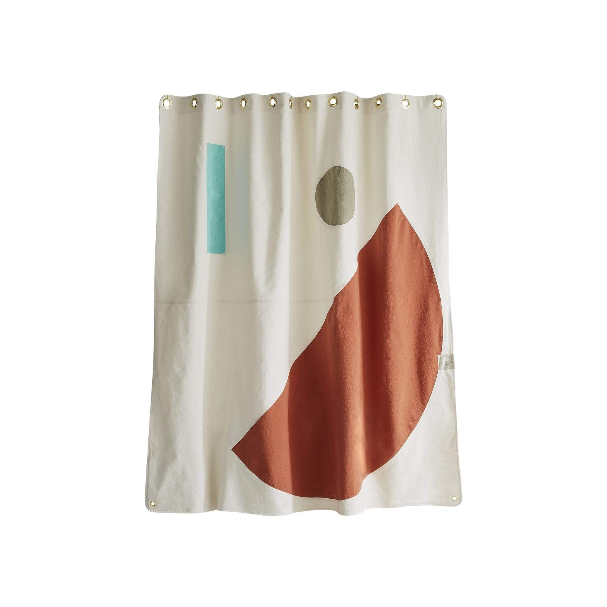 Quiet Town Bath Mats + Curtains Beacon Clay Shower Curtain