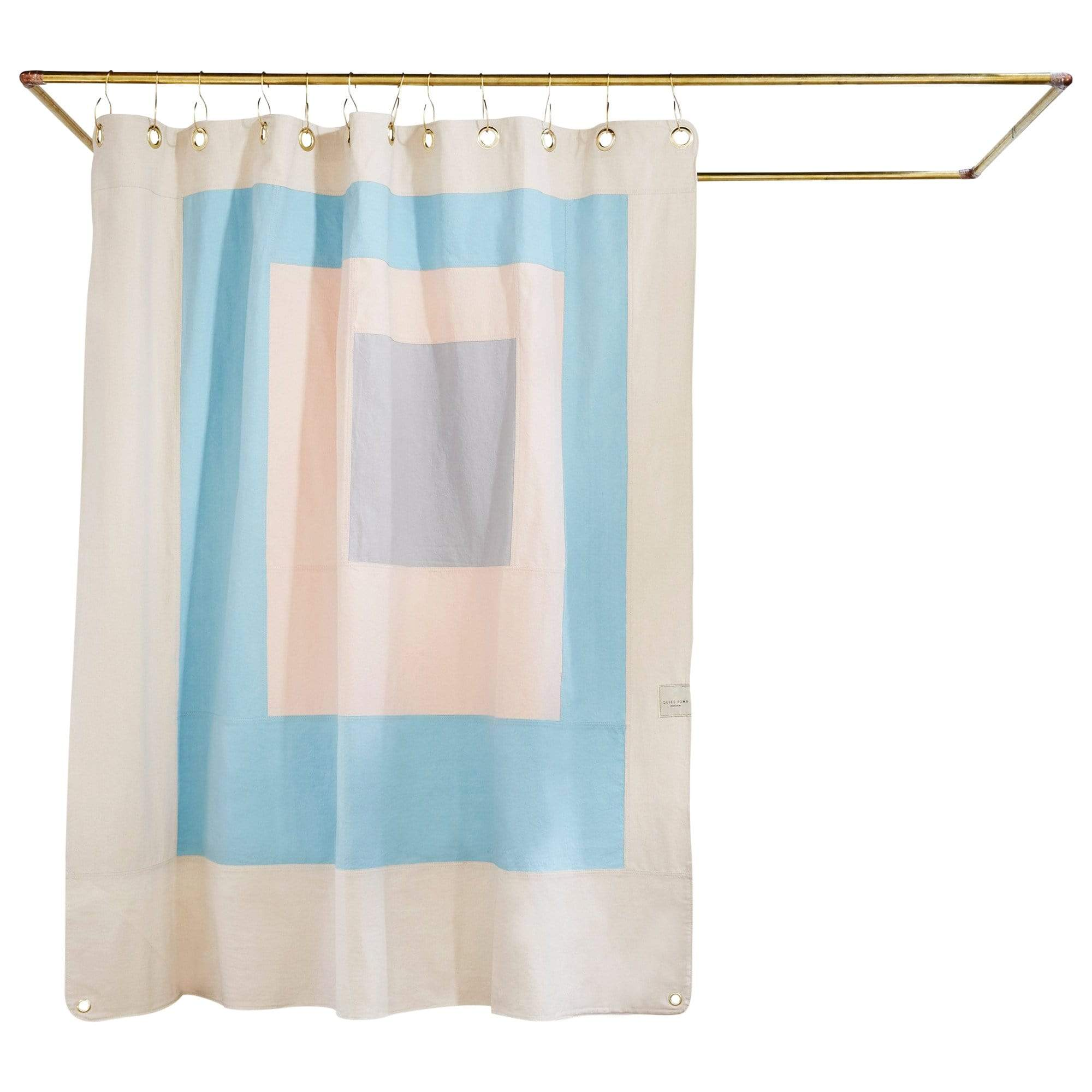 Quiet Town Bath Mats + Curtains Marfa Sky