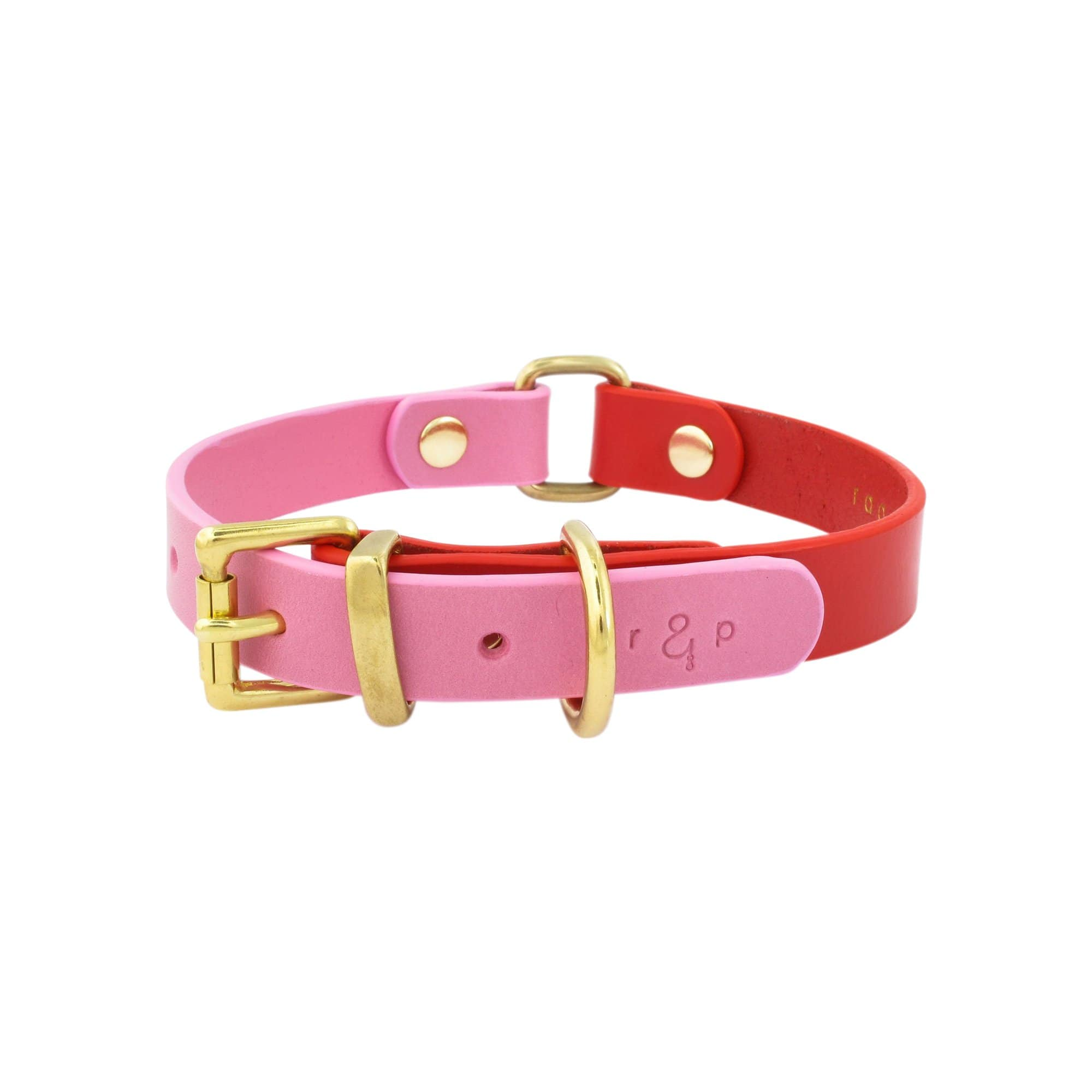 Color Block Red + Pink Collar