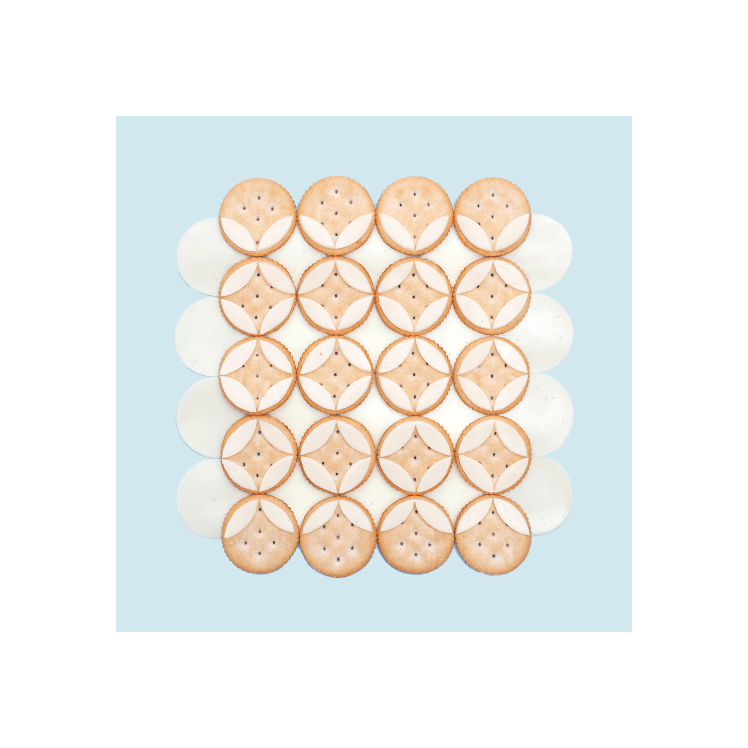 Cheese On Crackers Print