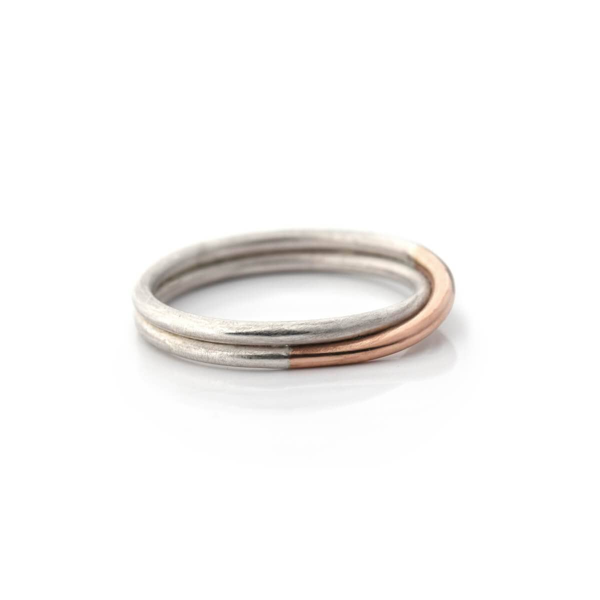 Simplicated Jewelry Rings Rose Gold + Silver Overlap Ring