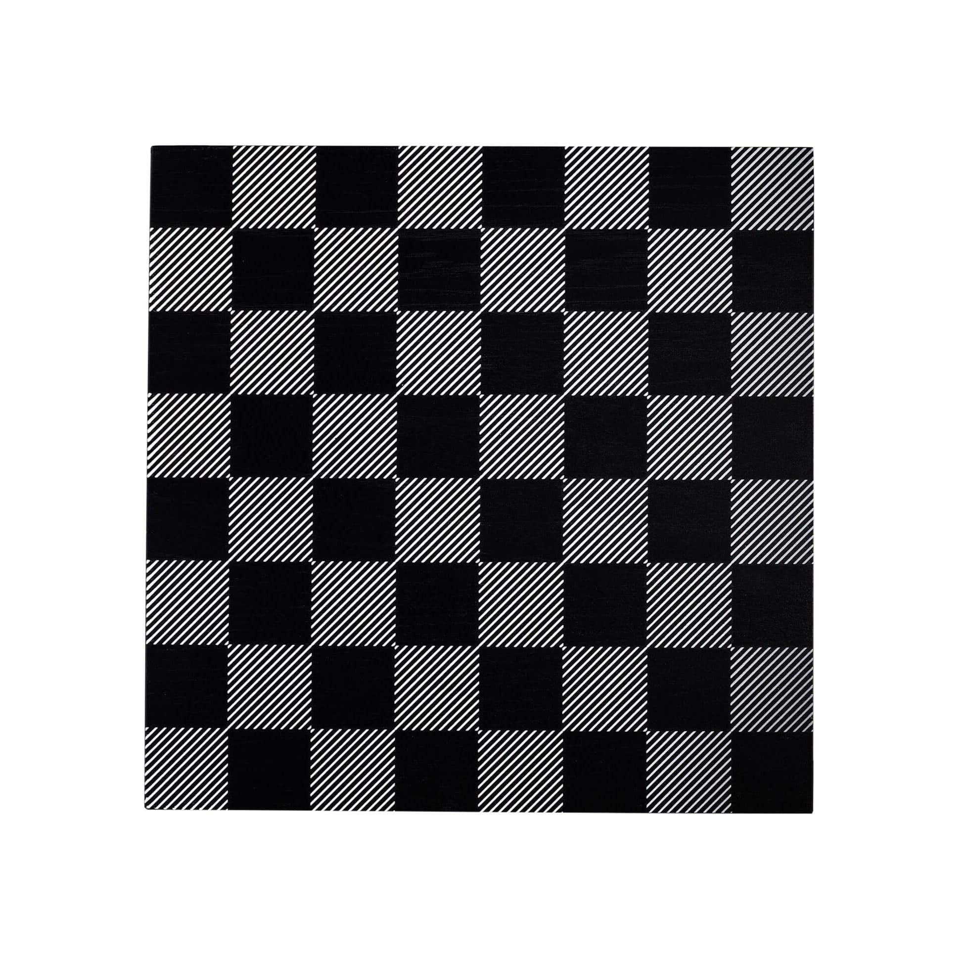 Skyline Chess Games Black and White Wooden Board
