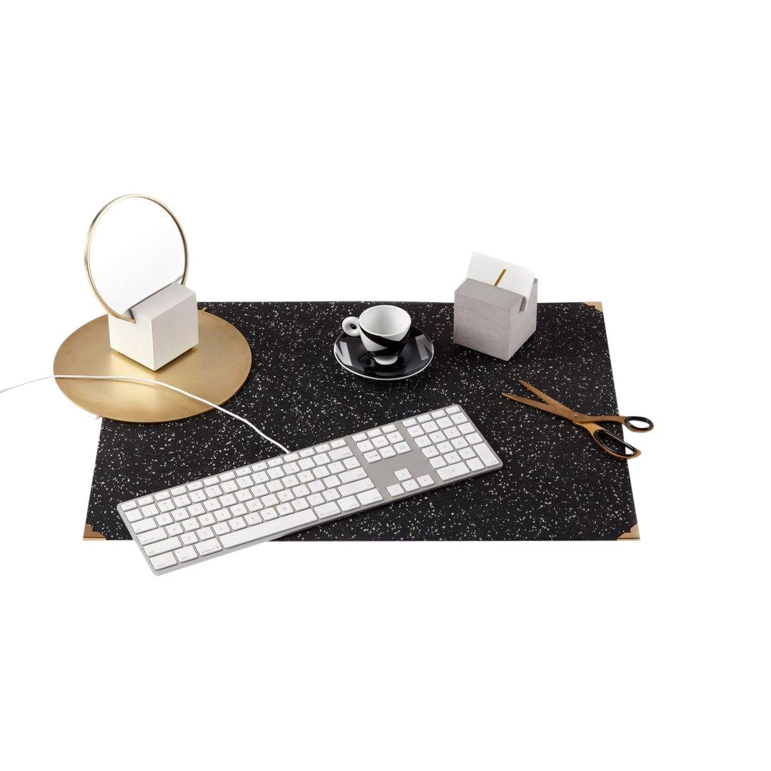 Rubber Speckled Black Deskmat
