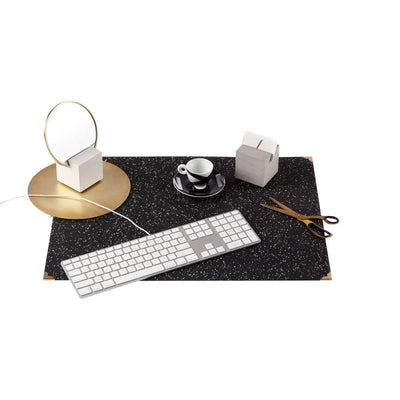 Slash Objects Desk Accessories Rubber Speckled Black Desk Mat